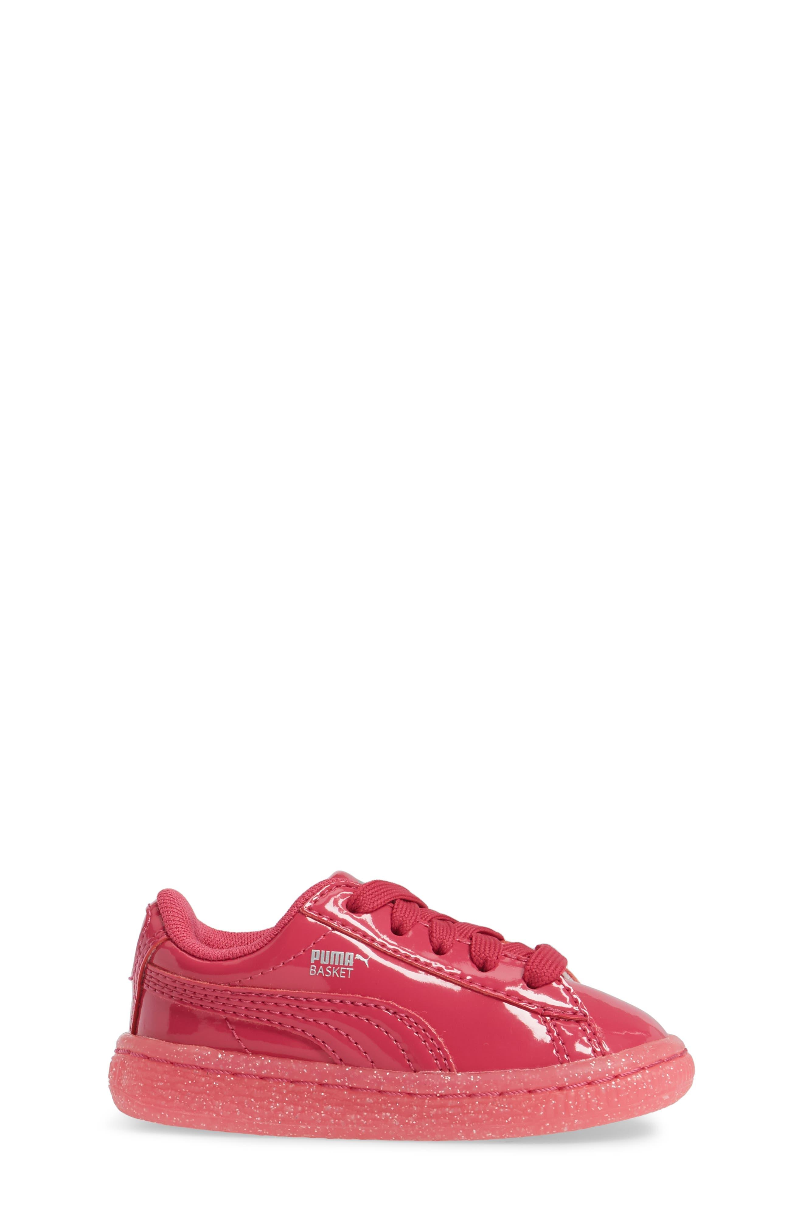 Basket Iced Glitter Sneaker,                             Alternate thumbnail 3, color,                             Beetroot Purple
