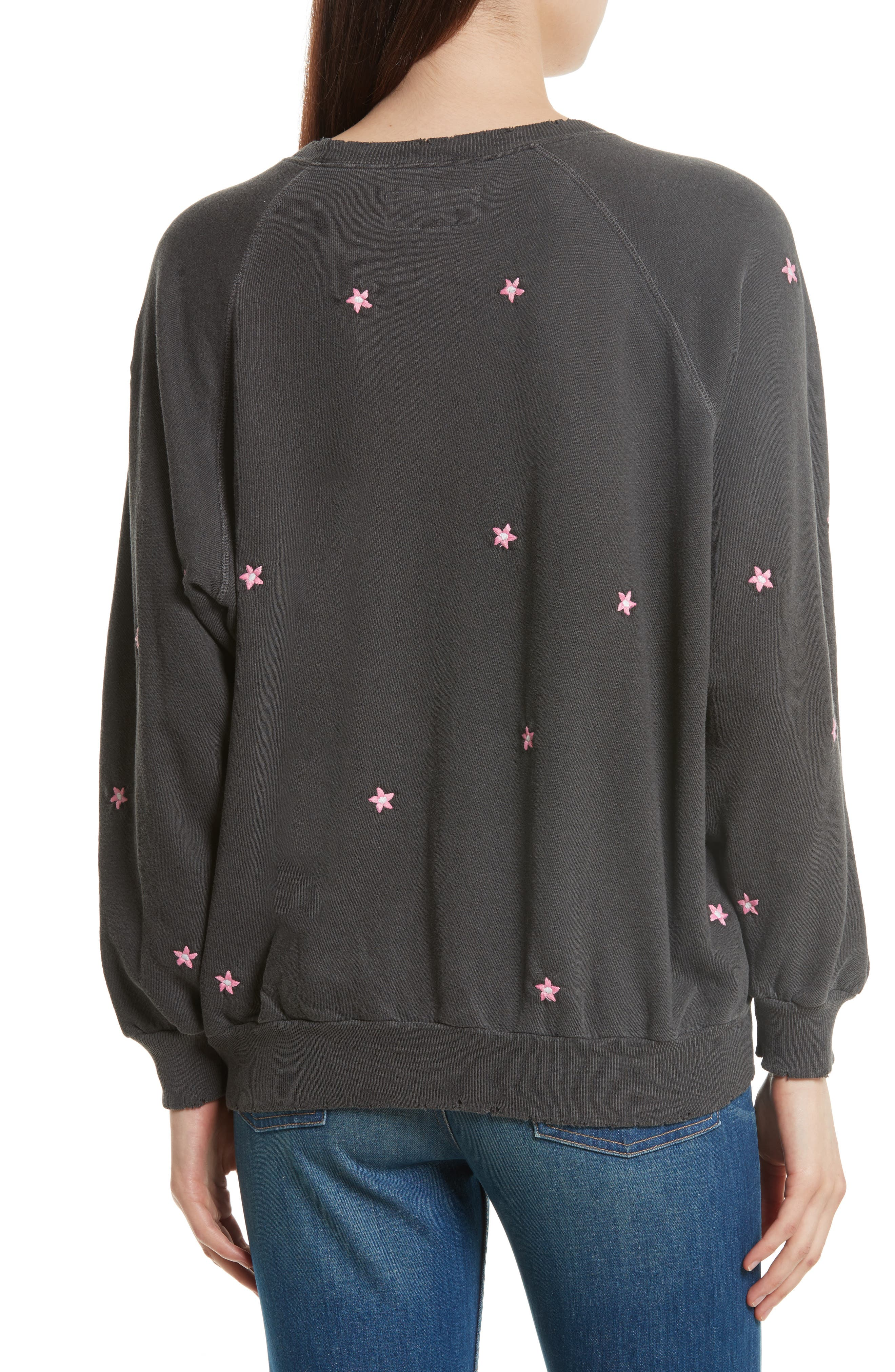 Alternate Image 2  - THE GREAT. The Embroidered Bubble Sweatshirt (Nordstrom Exclusive)