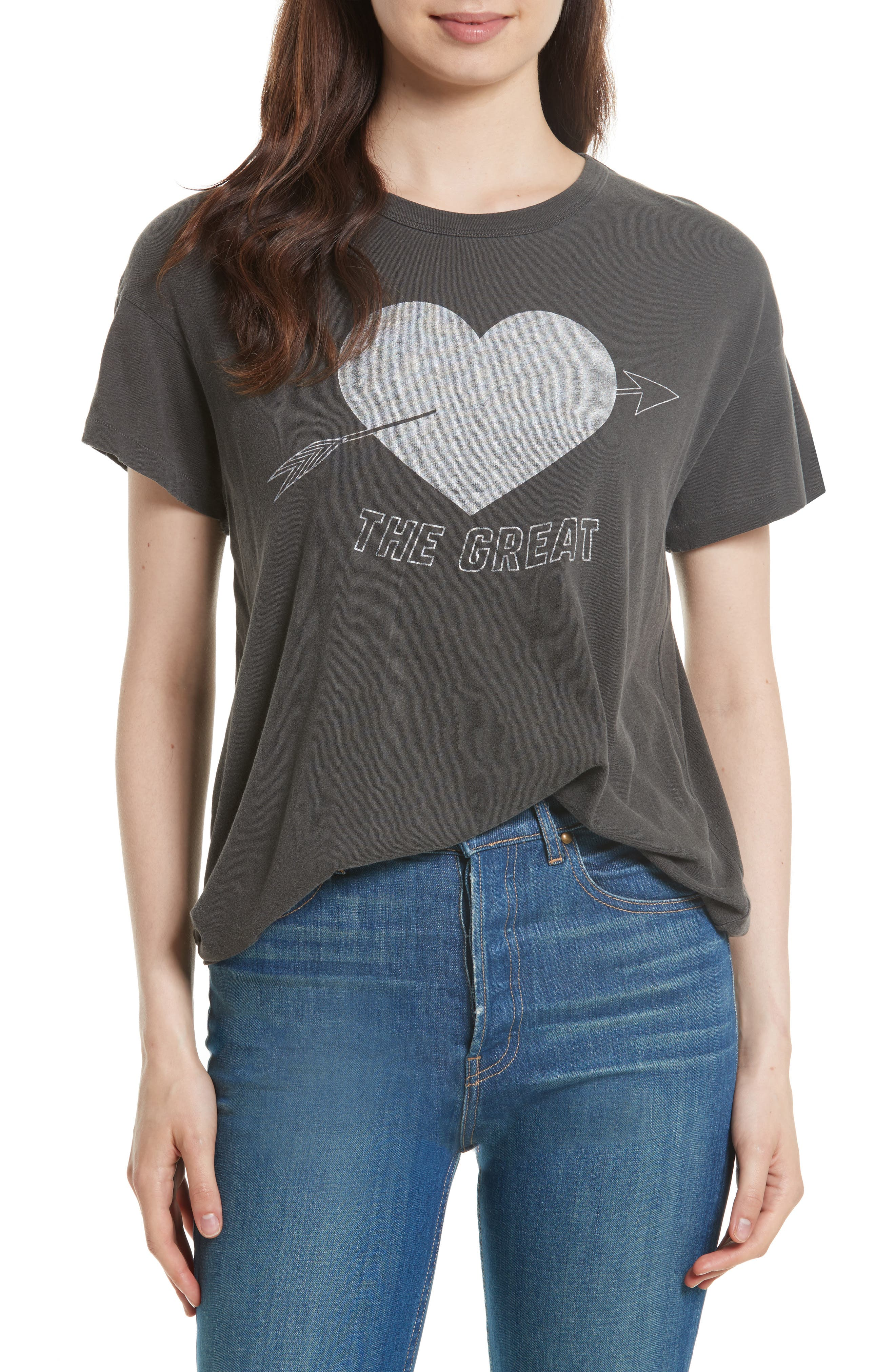 THE GREAT. The Boxy Graphic Tee