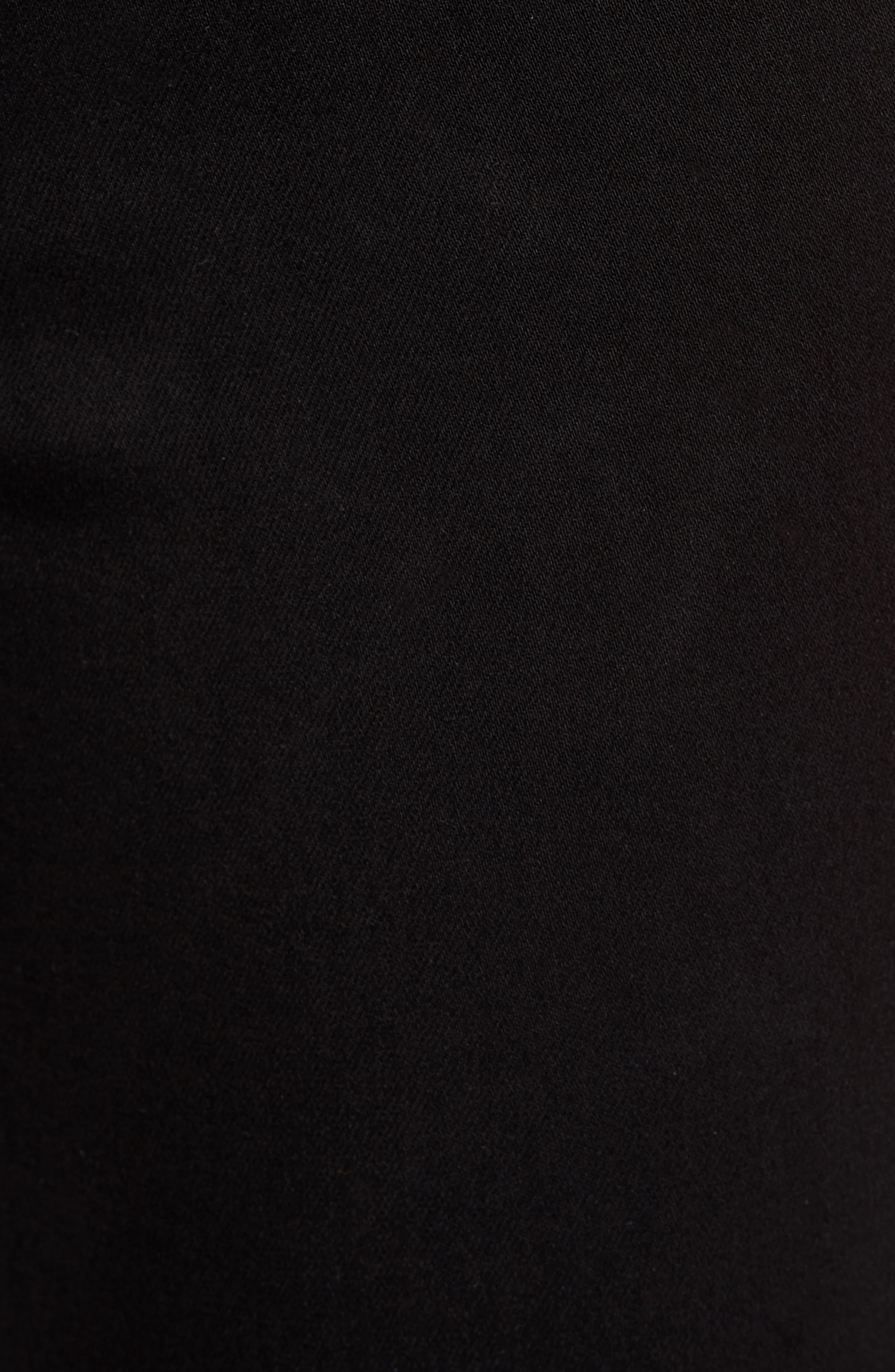 Good Waist Exposed Zip Skinny Jeans,                             Alternate thumbnail 5, color,                             Black001