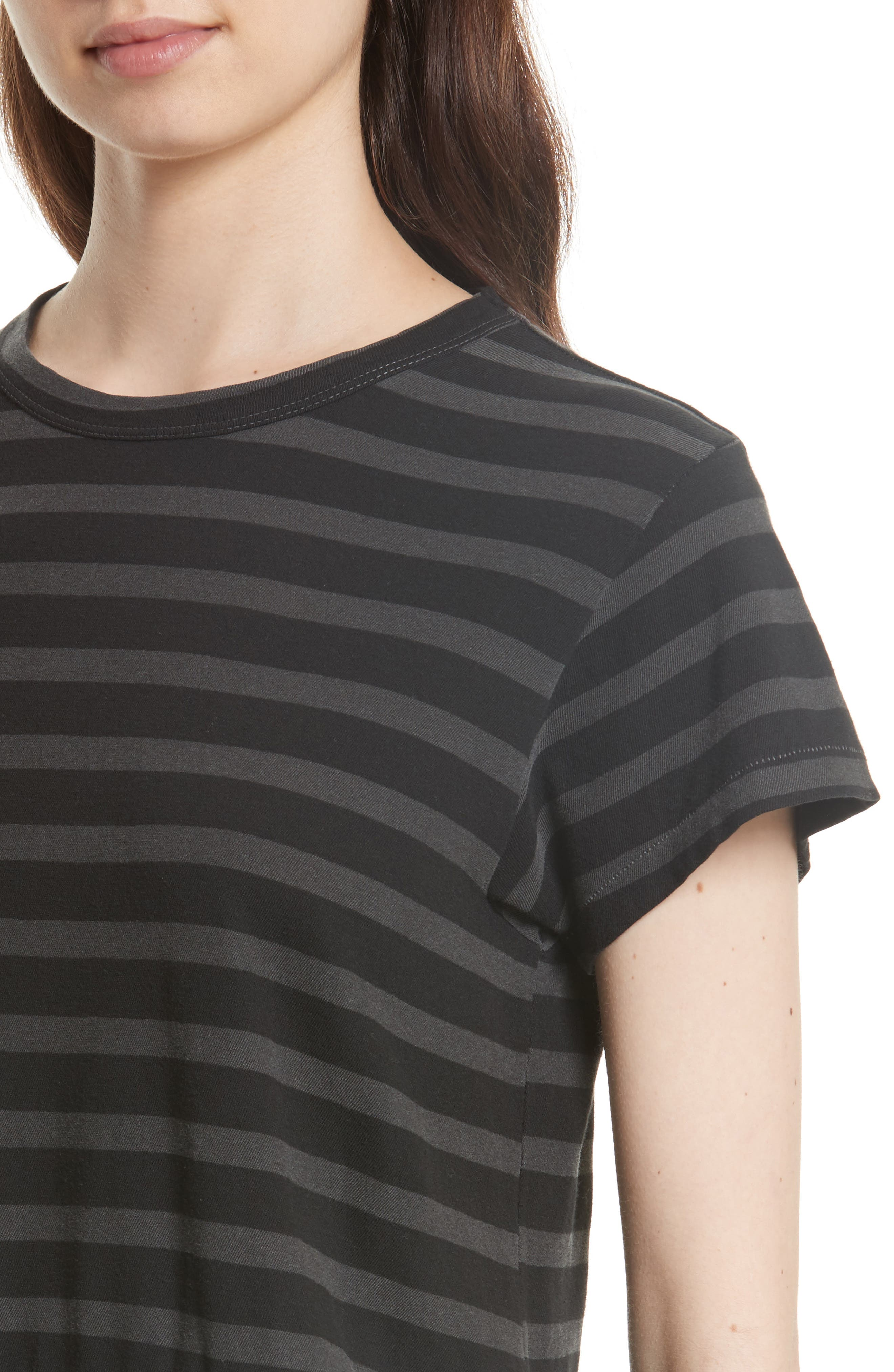Alternate Image 4  - THE GREAT. The Ruffle Stripe Tee