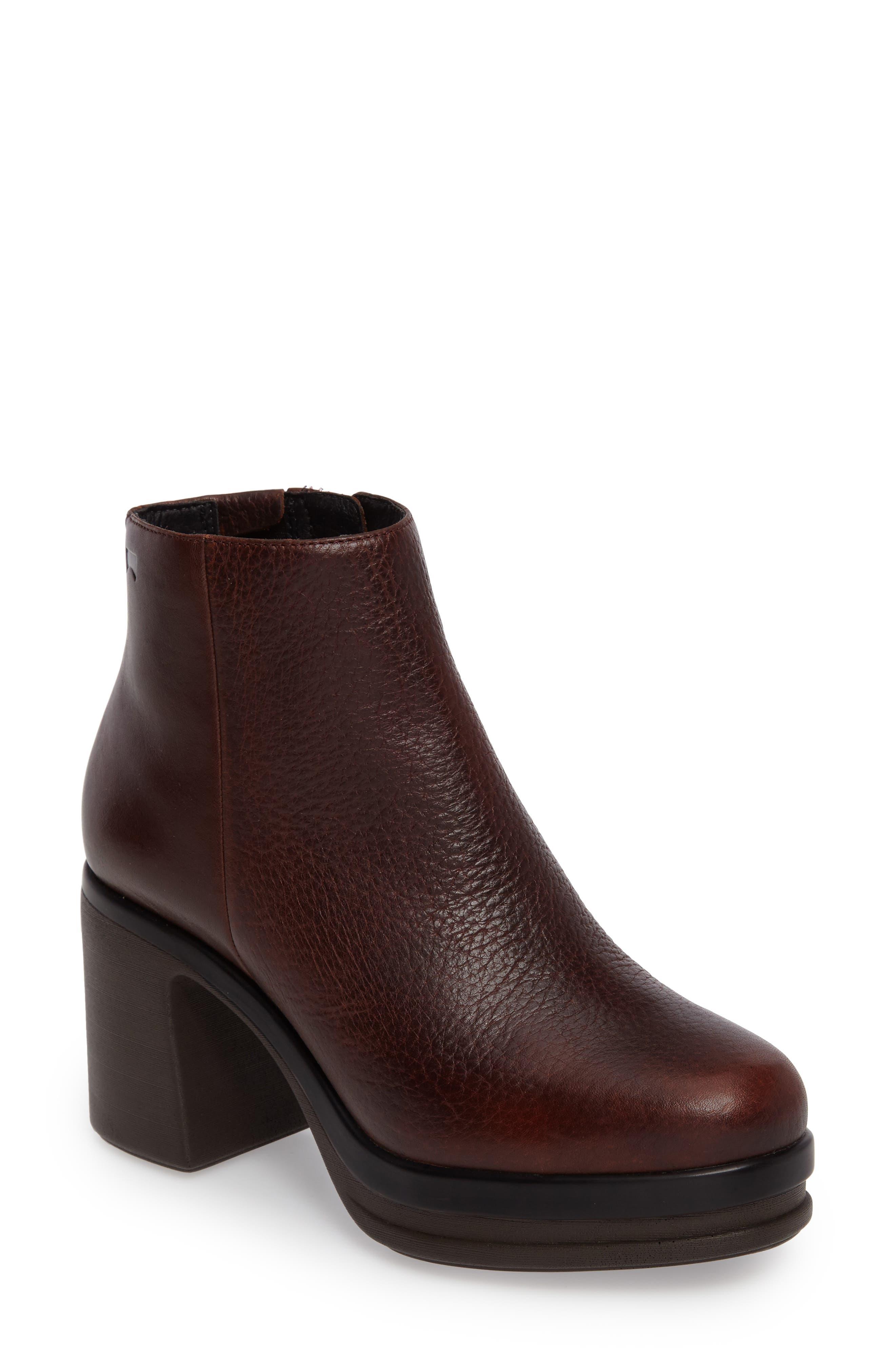Alice Platform Boot,                             Main thumbnail 1, color,                             Medium Brown Leather
