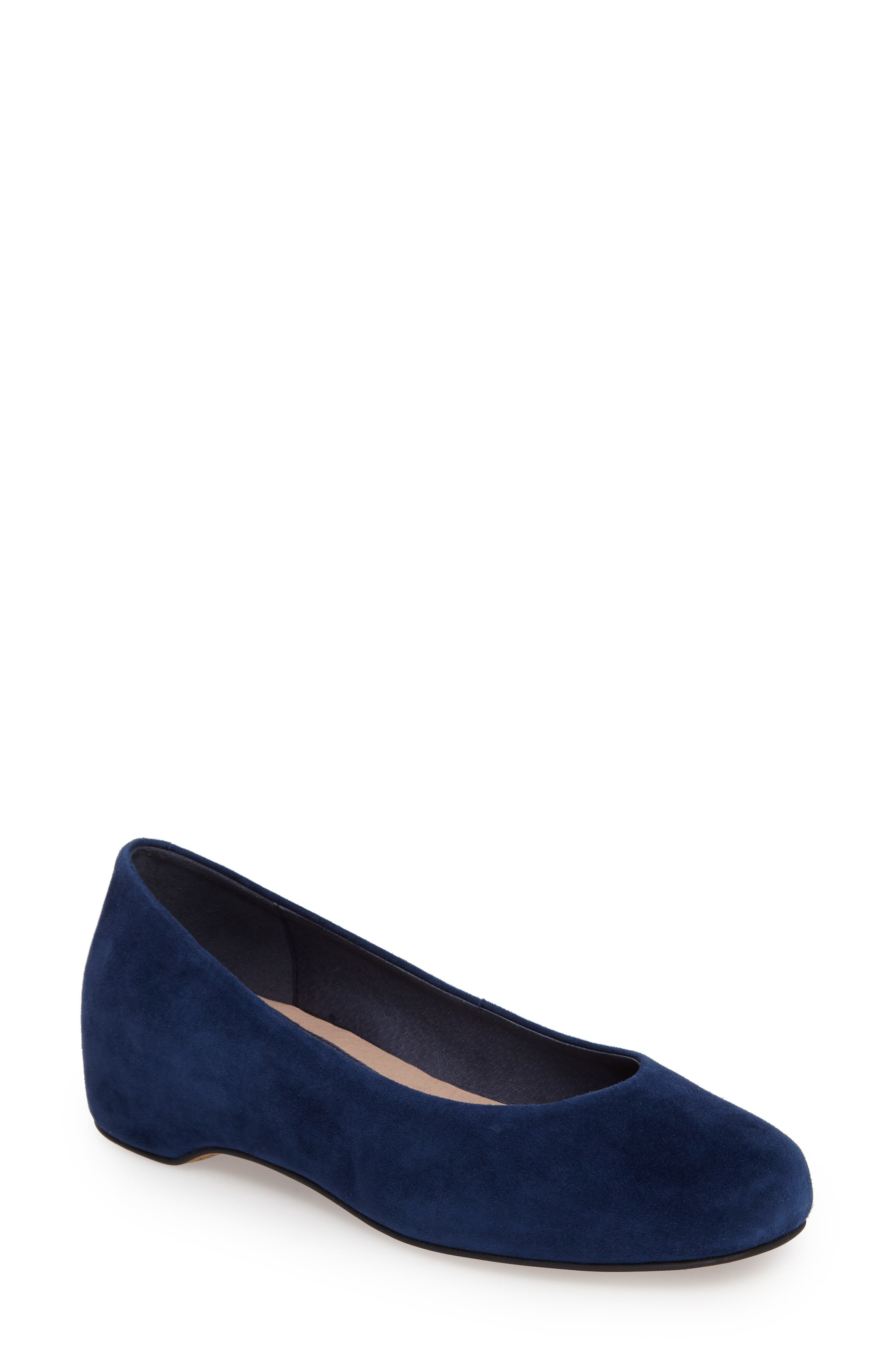Serena Flat,                             Main thumbnail 1, color,                             Blue Leather