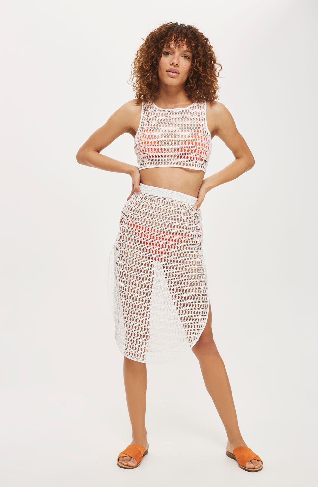 Alternate Image 2  - Topshop Lace Cover-Up Skirt