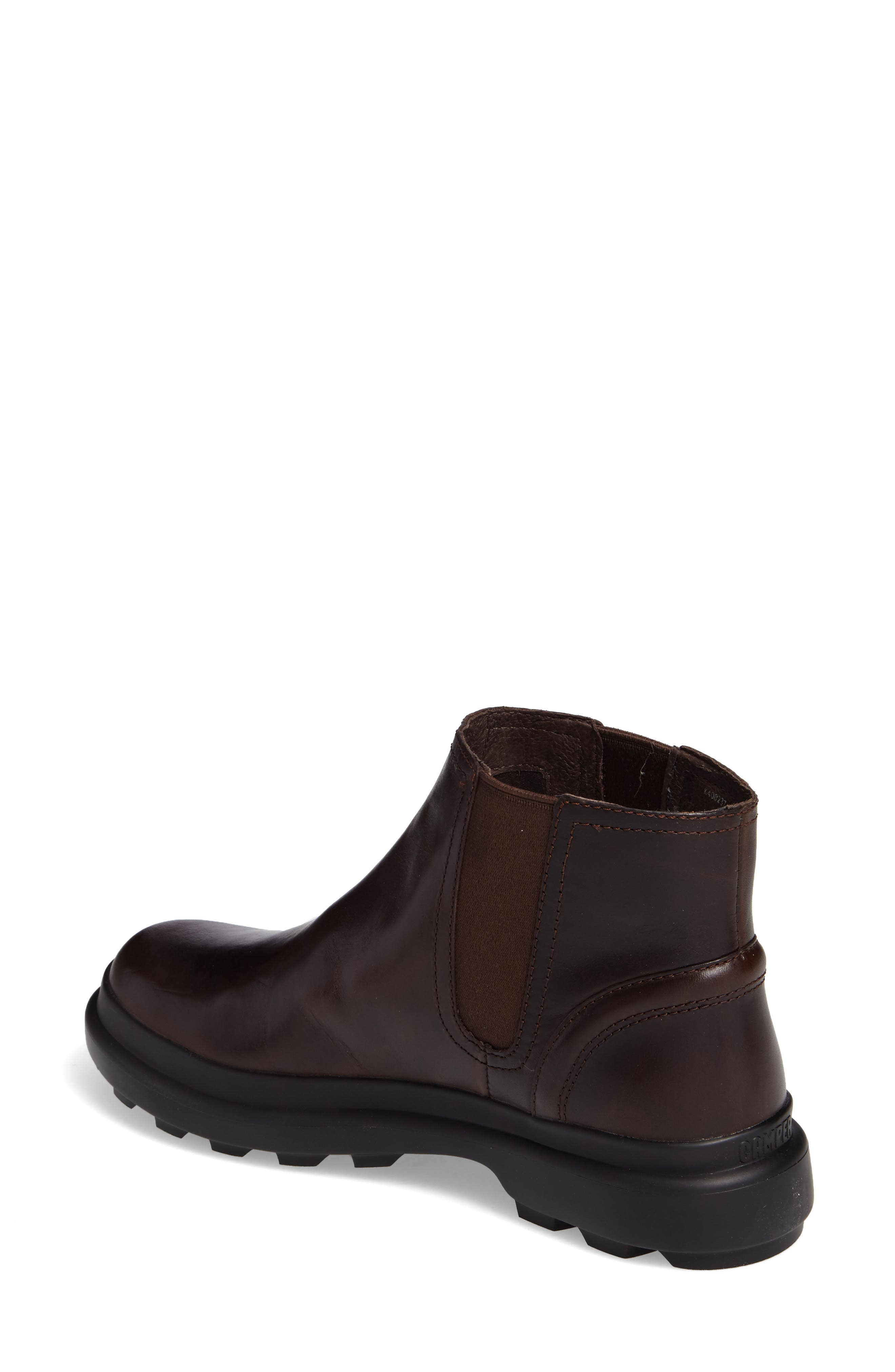 Turtle Lugged Chelsea Boot,                             Alternate thumbnail 2, color,                             Dark Brown Leather