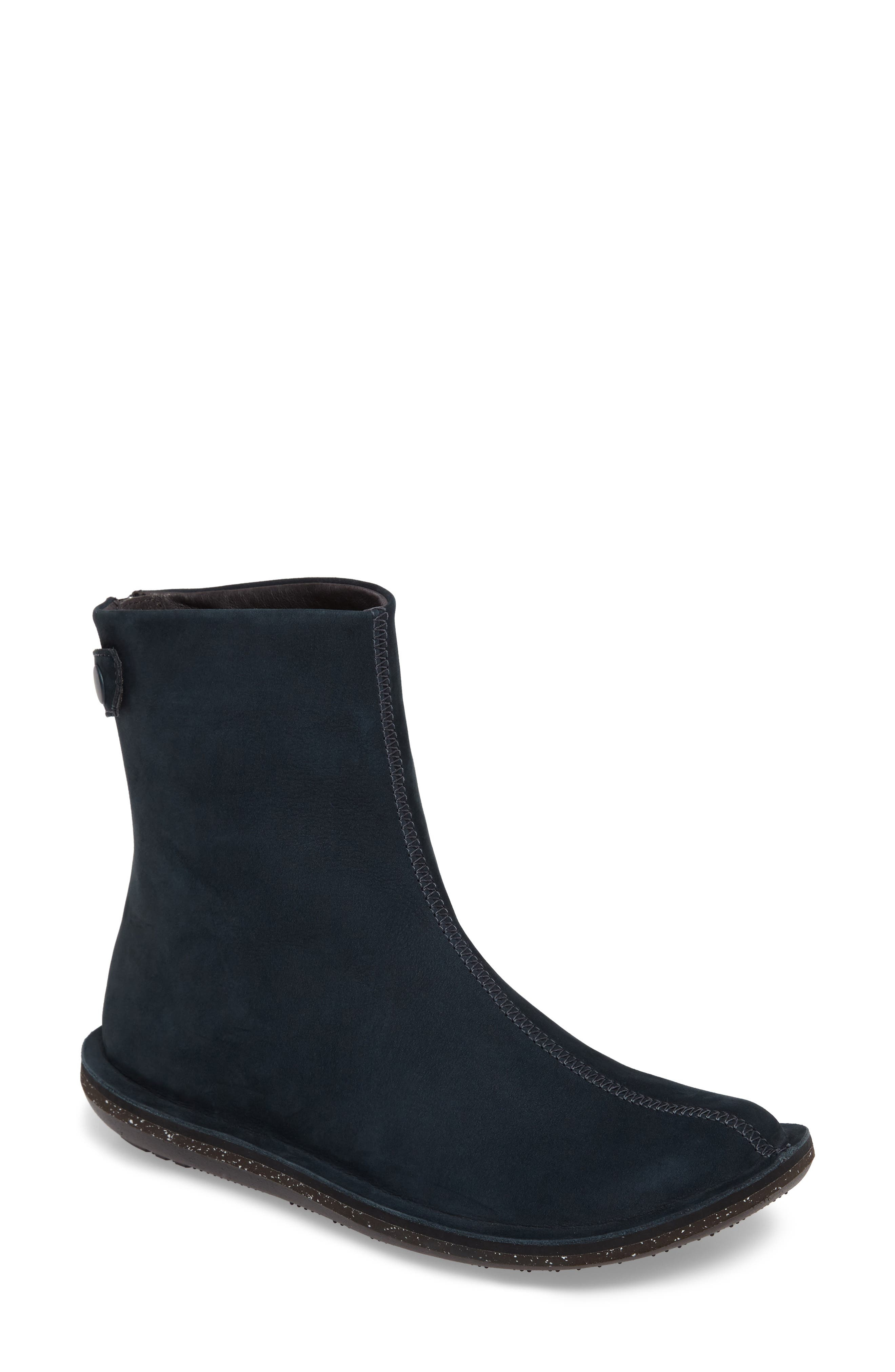 'Beetle Mid' Boot,                         Main,                         color, Dark Blue Leather