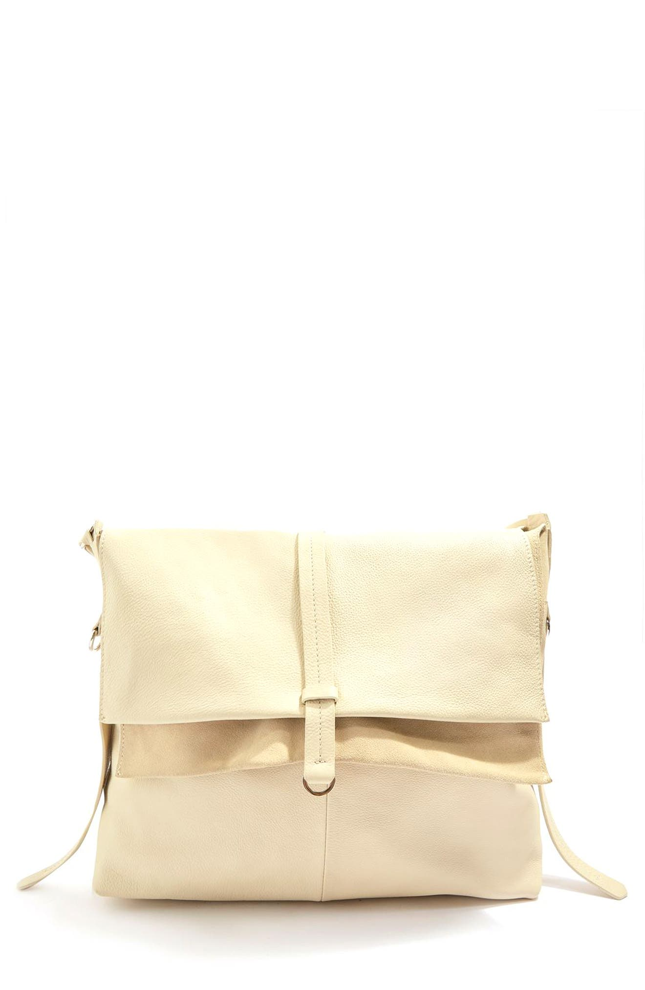Topshop Premium Leather Hobo Bag