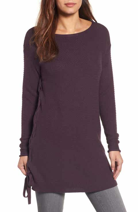Caslon® Side Tie Seed Stitch Tunic Top (Regular & Petite)