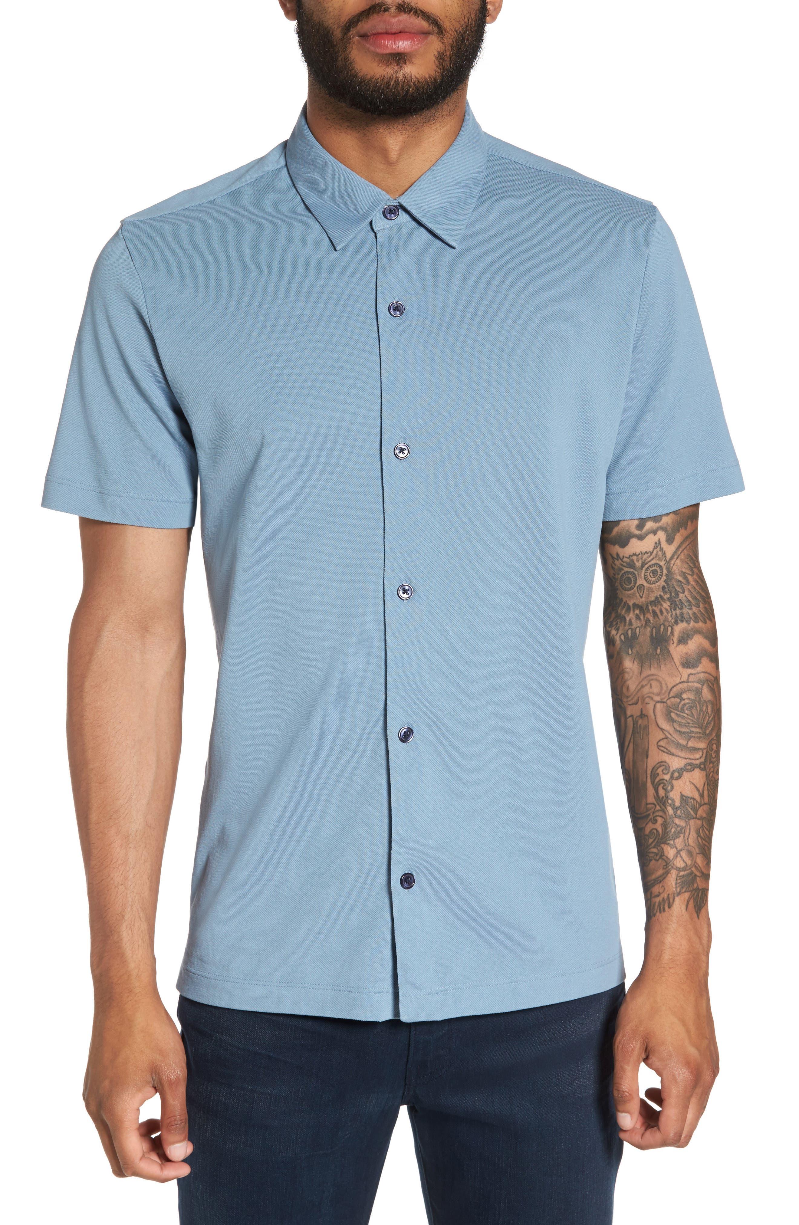 THEORY Slim Fit Air Piqué Sport Shirt
