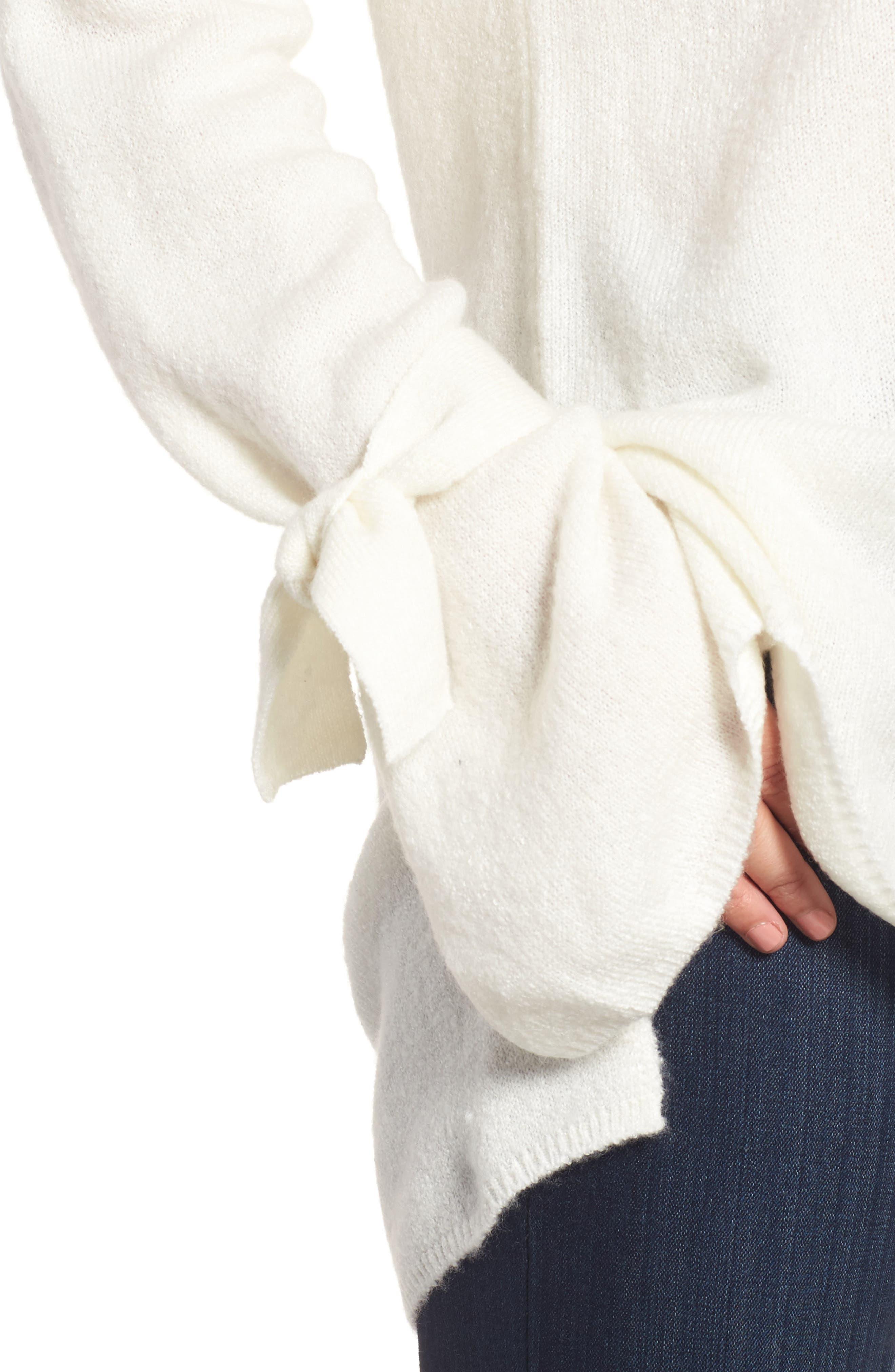 Alternate Image 4  - Halogen® Tie Bell Sleeve Sweater (Regular & Petite)