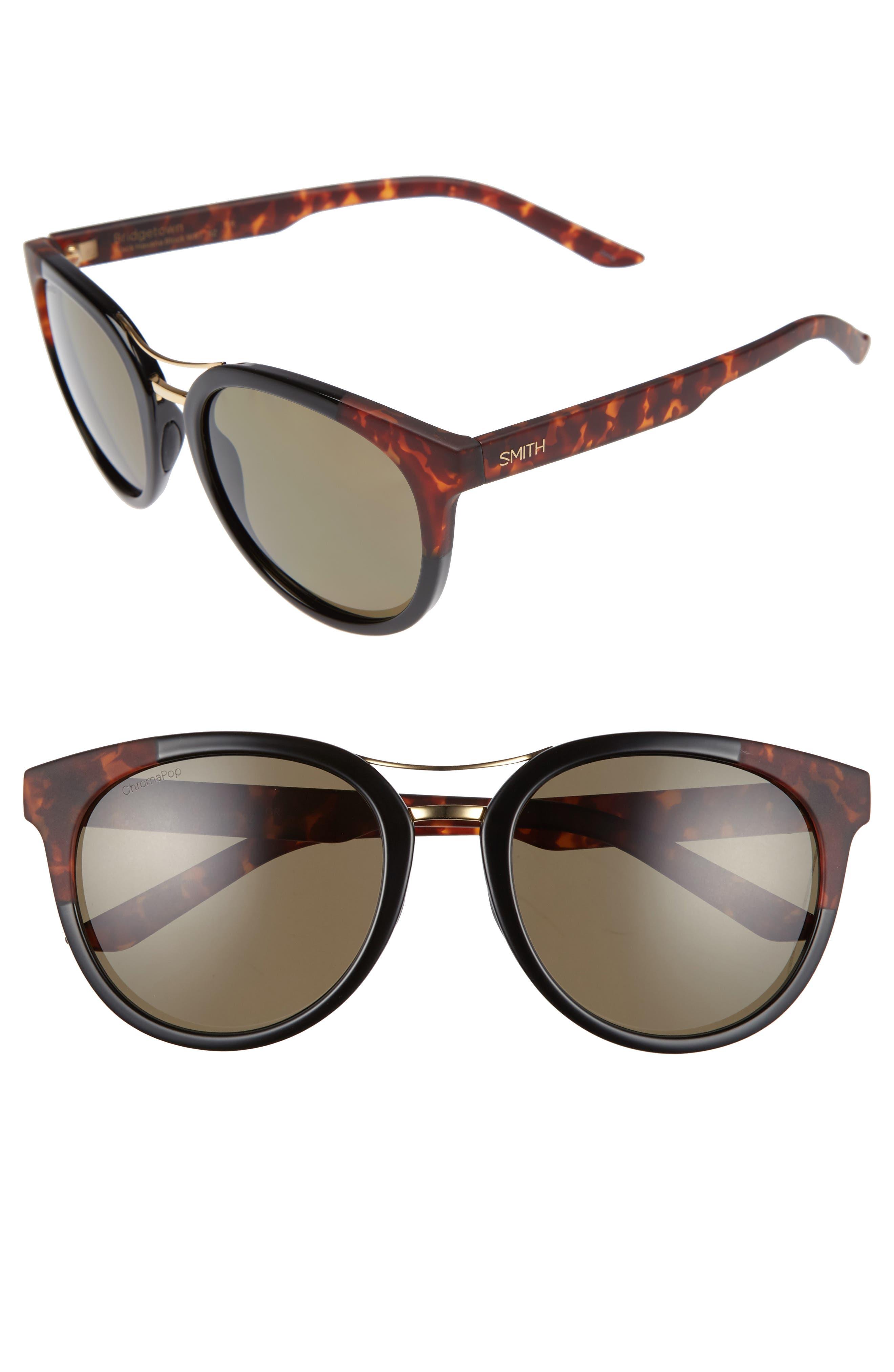 Bridgetown ChromaPop 54mm Polarized Sunglasses,                         Main,                         color, Black/ Havana Block