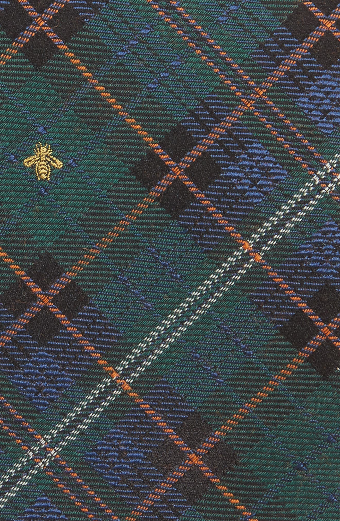 Kilt Bee Plaid Jacquard Tie,                             Alternate thumbnail 2, color,                             Green