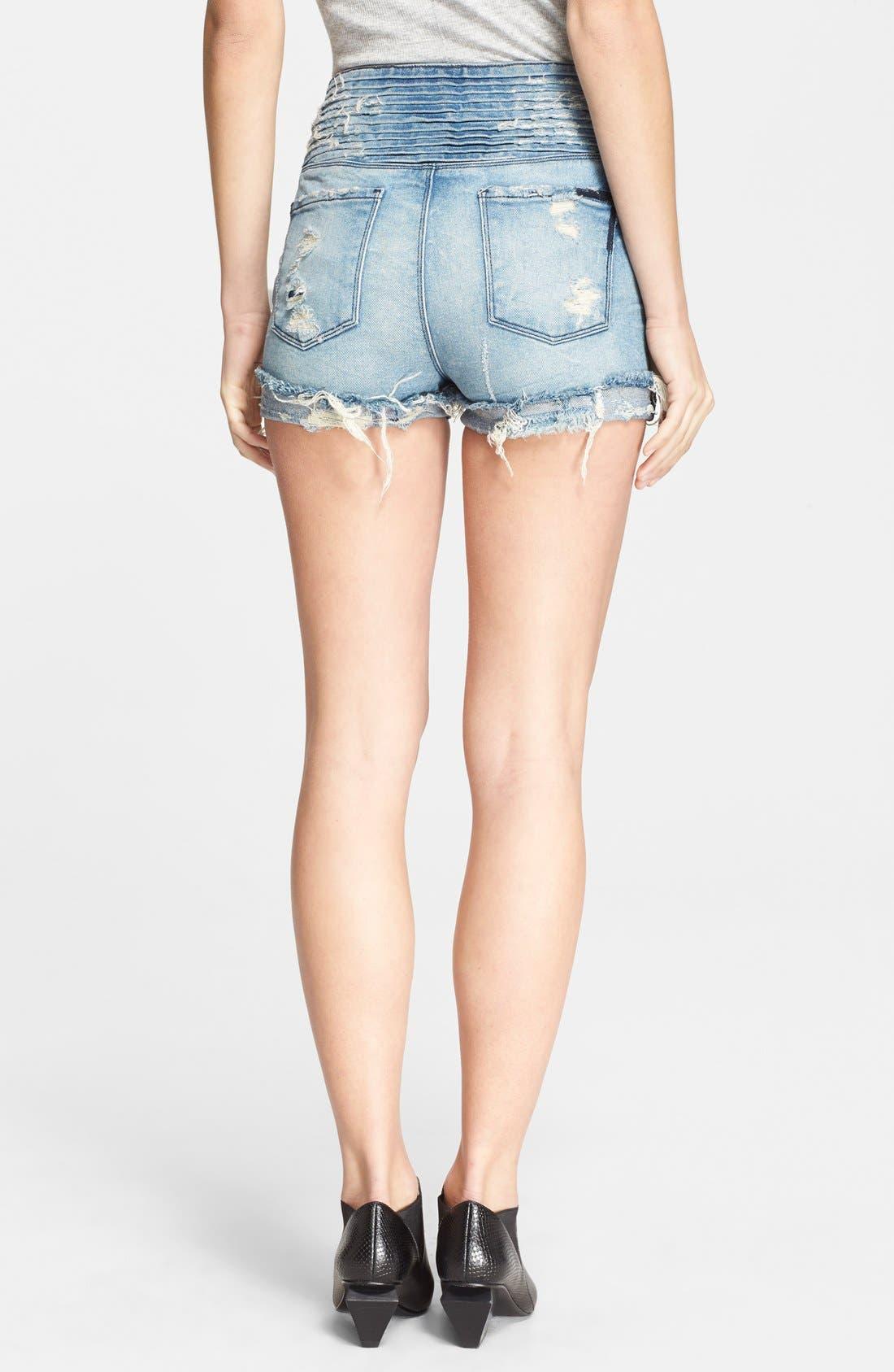 Alternate Image 2  - RtA 'Salvador' Destroyed Jean Shorts