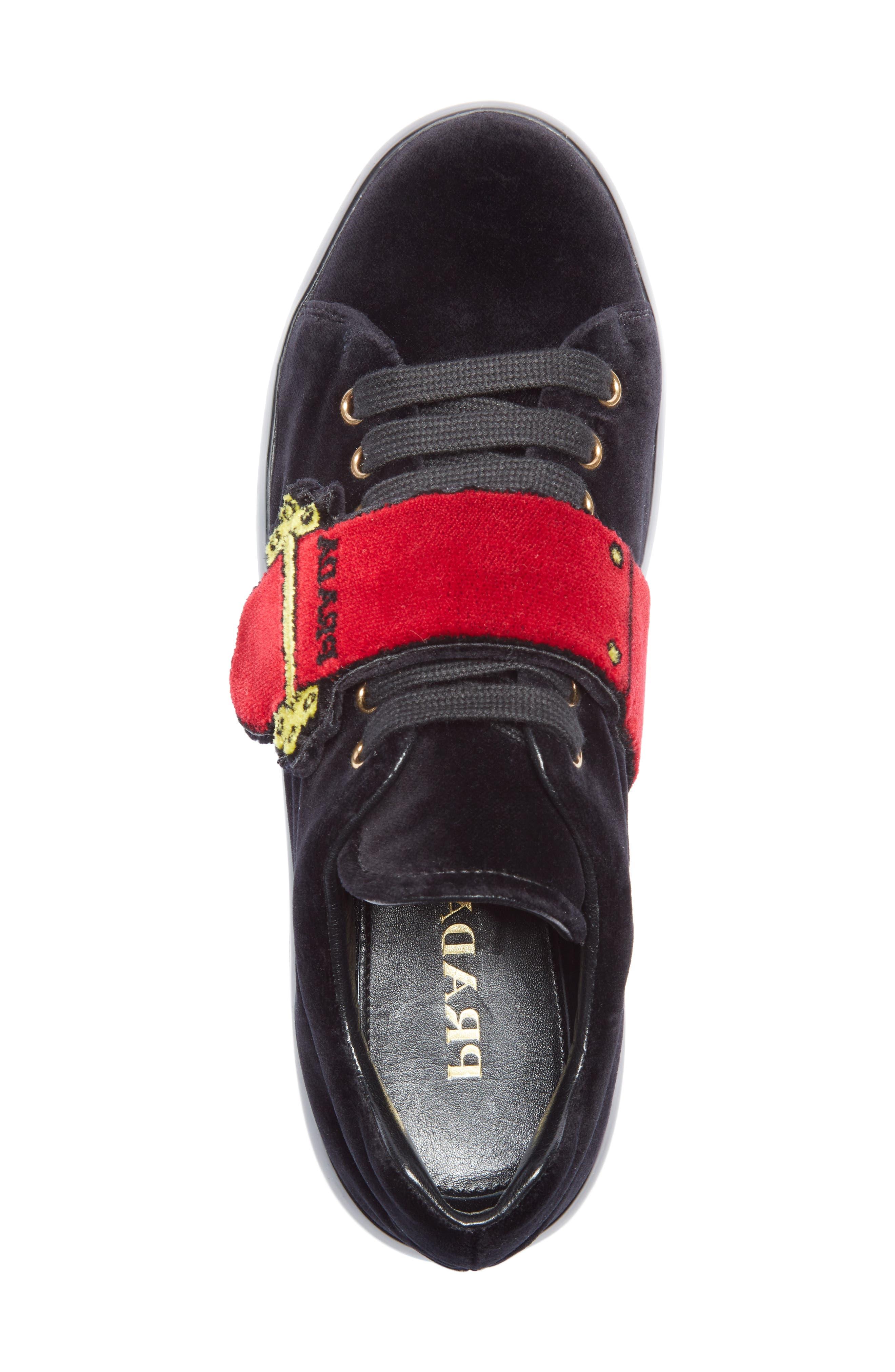 Logo Strap Sneaker,                             Alternate thumbnail 3, color,                             Black