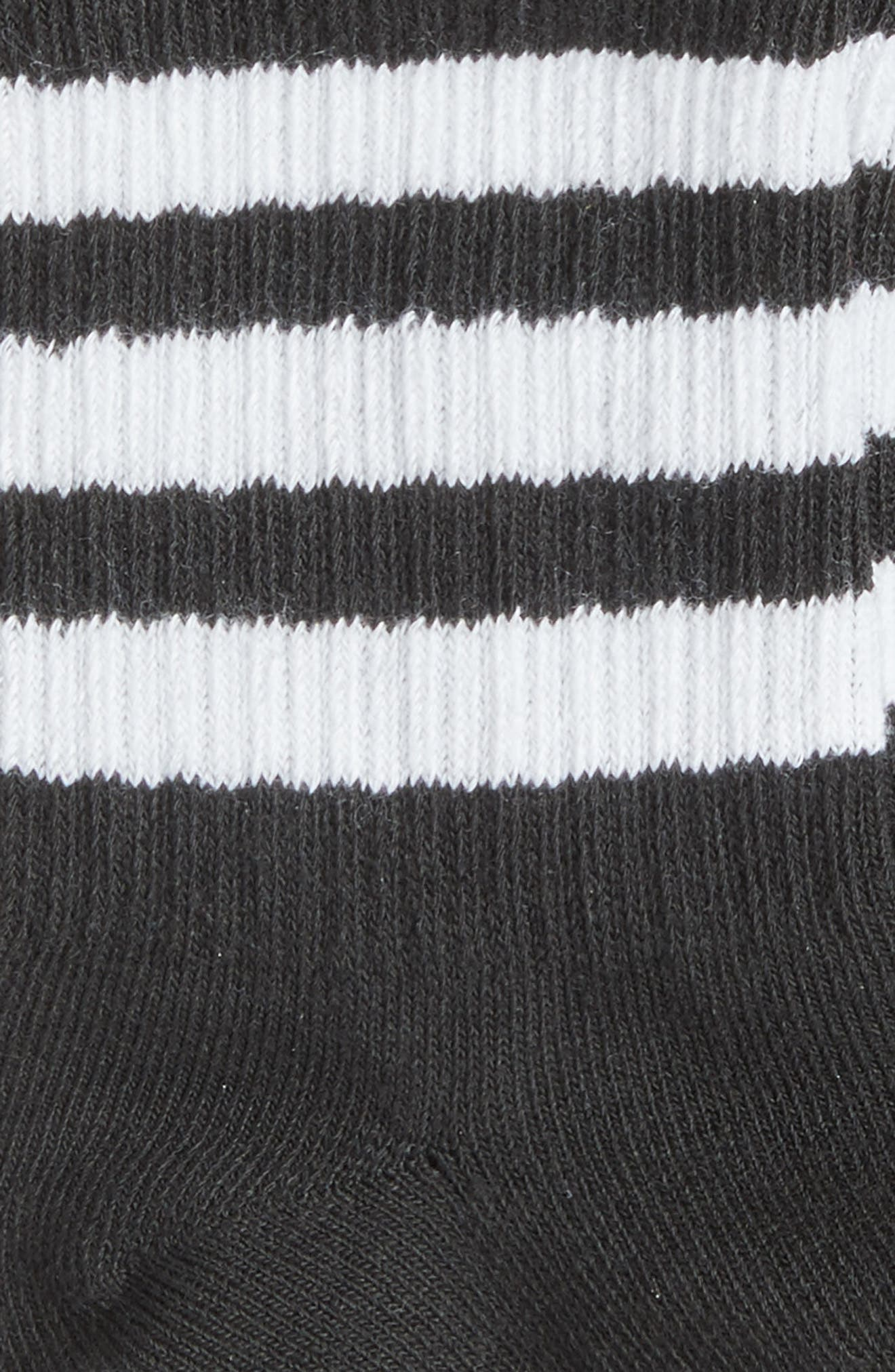 Alternate Image 2  - adidas 3-Pack 3-Stripe Ankle Socks