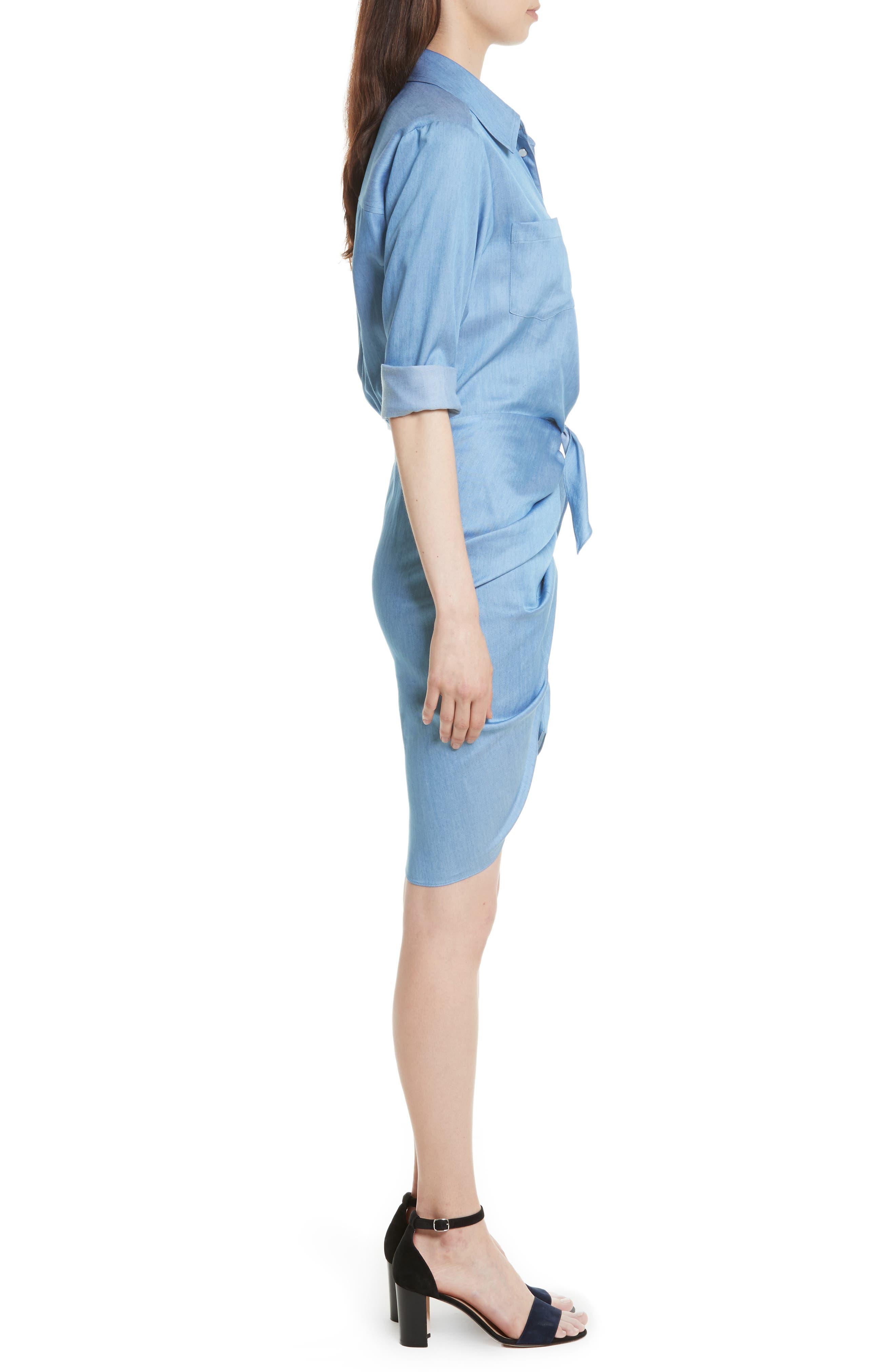 Alternate Image 3  - Veronica Beard Sierra Ruched Shirtdress