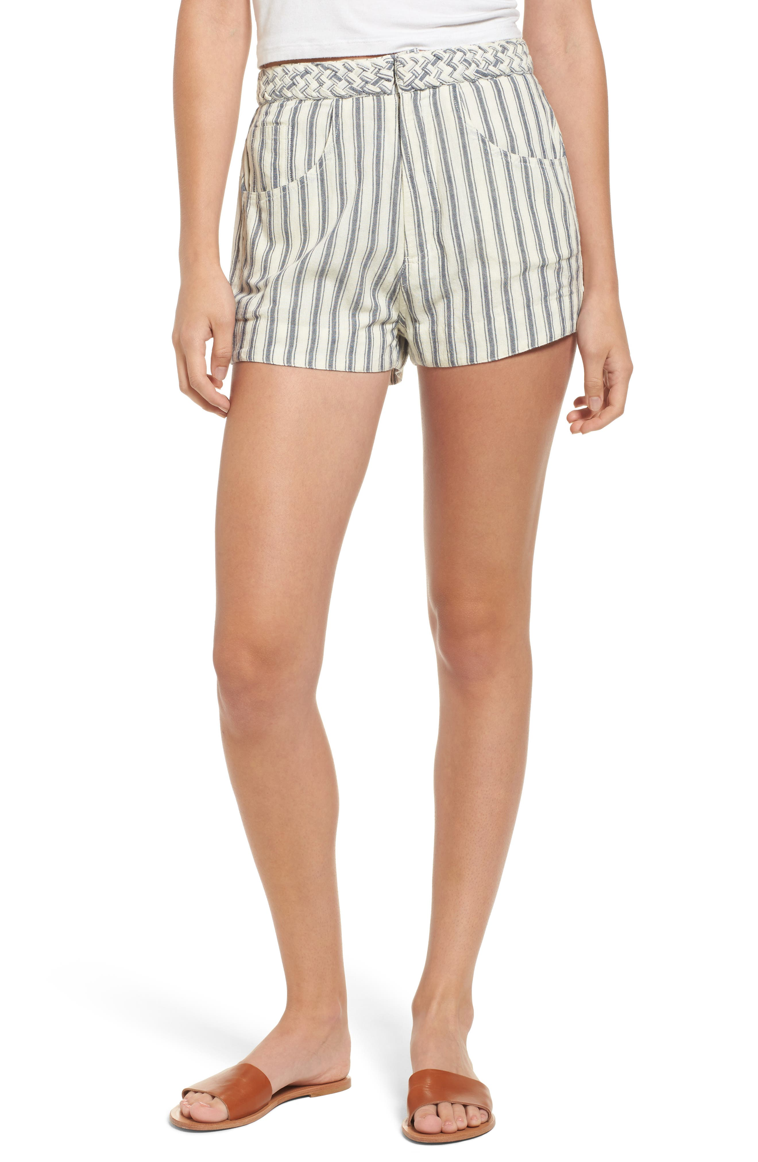 Tularosa Emma Stripe High Waist Shorts