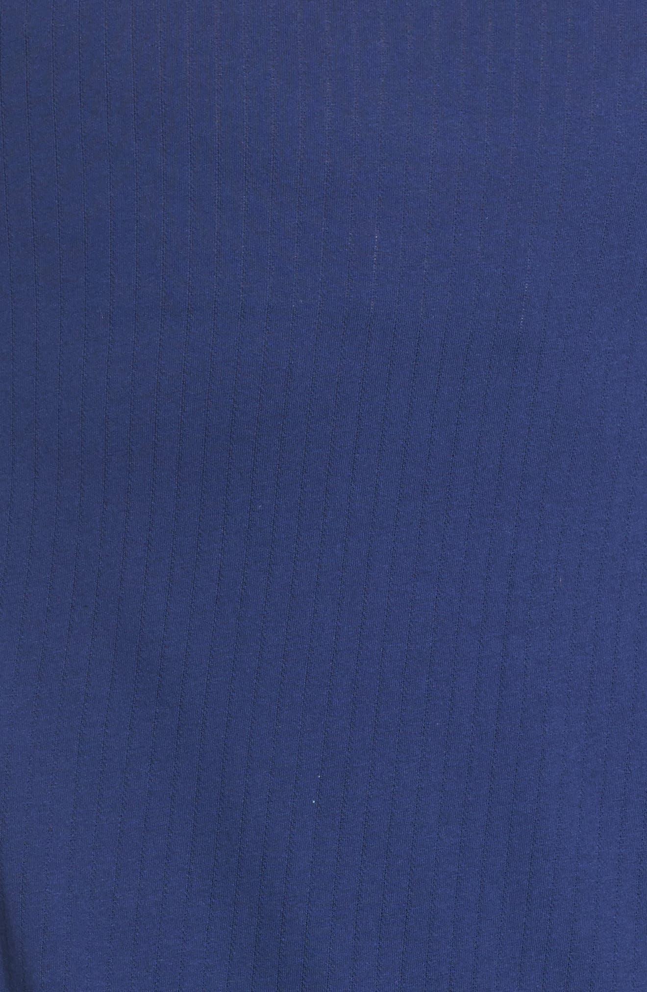 Notched Collar Pajamas,                             Alternate thumbnail 5, color,                             Navy