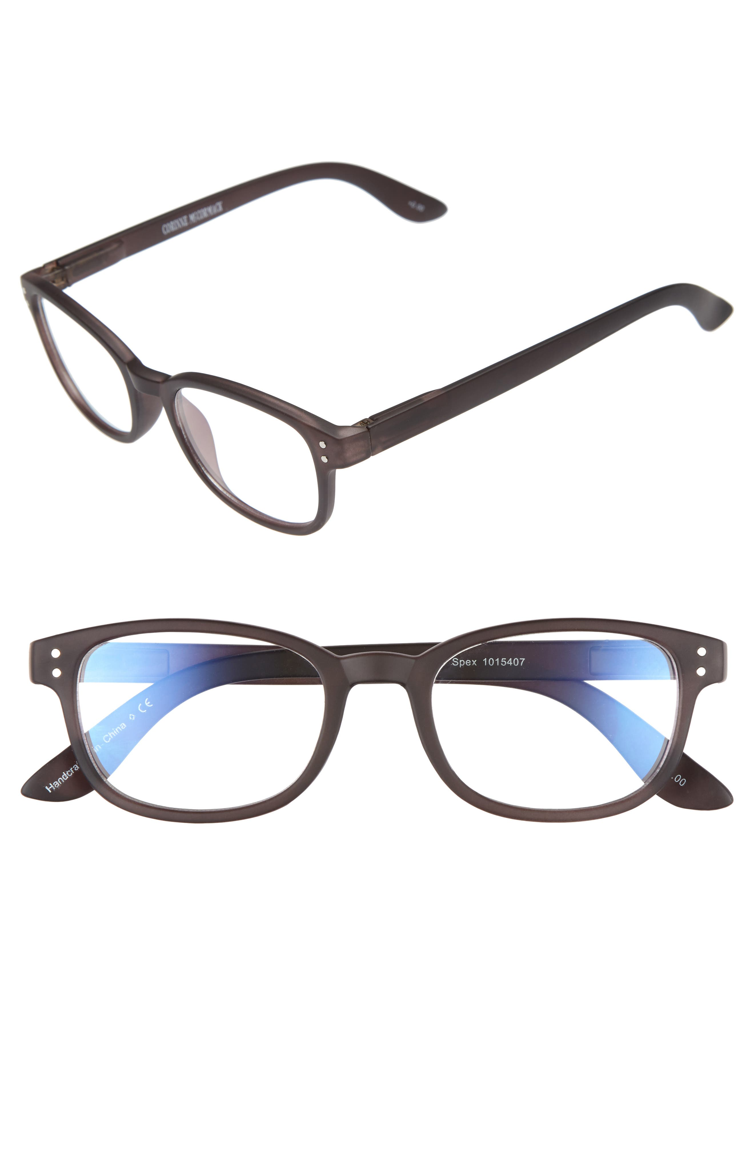 Main Image - Corinne McCormack ColorSpex® 50mm Blue Light Blocking Reading Glasses