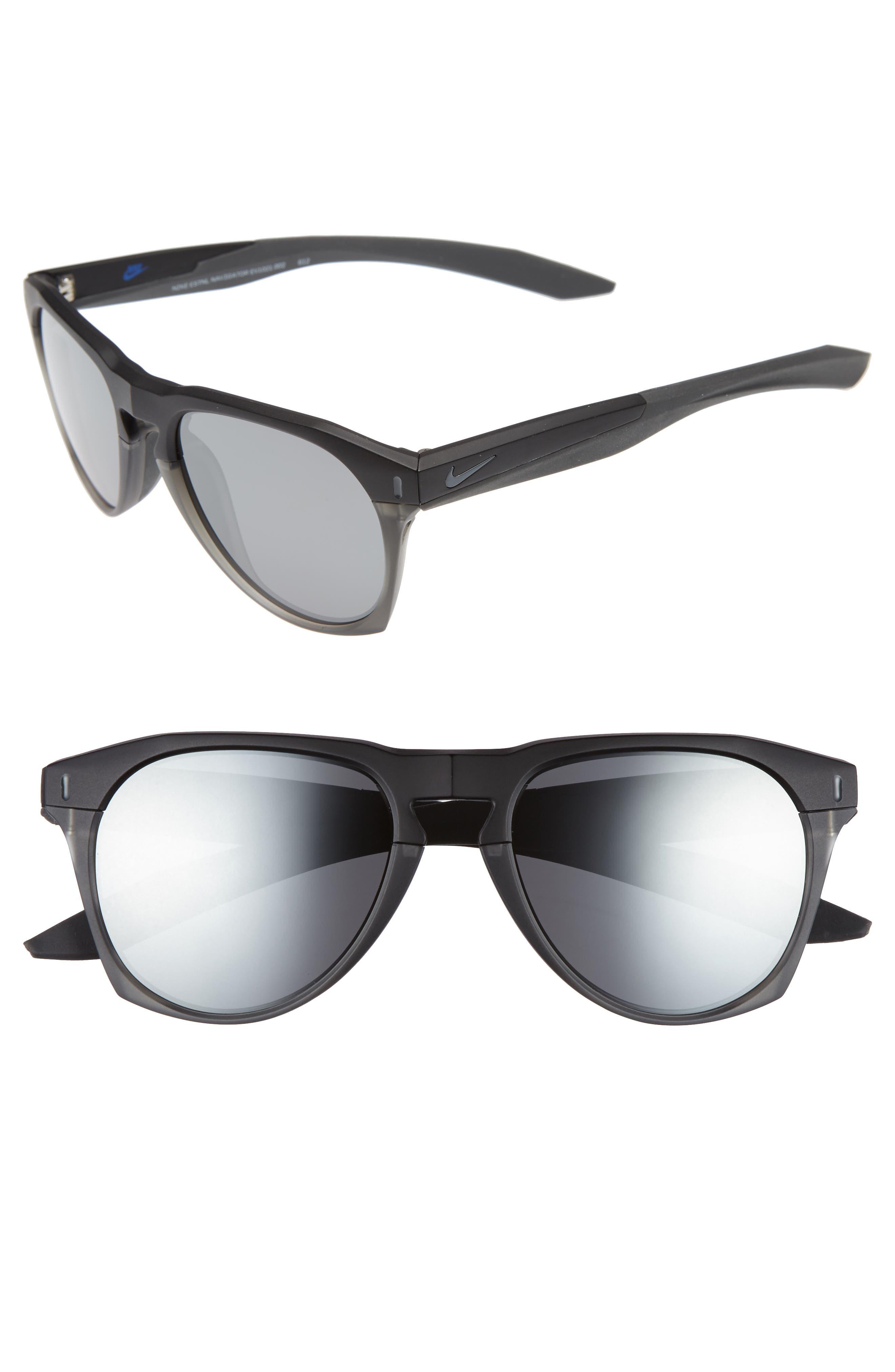 Essential Navigator 54mm Sunglasses,                             Main thumbnail 1, color,                             Matte Black / Anthracite