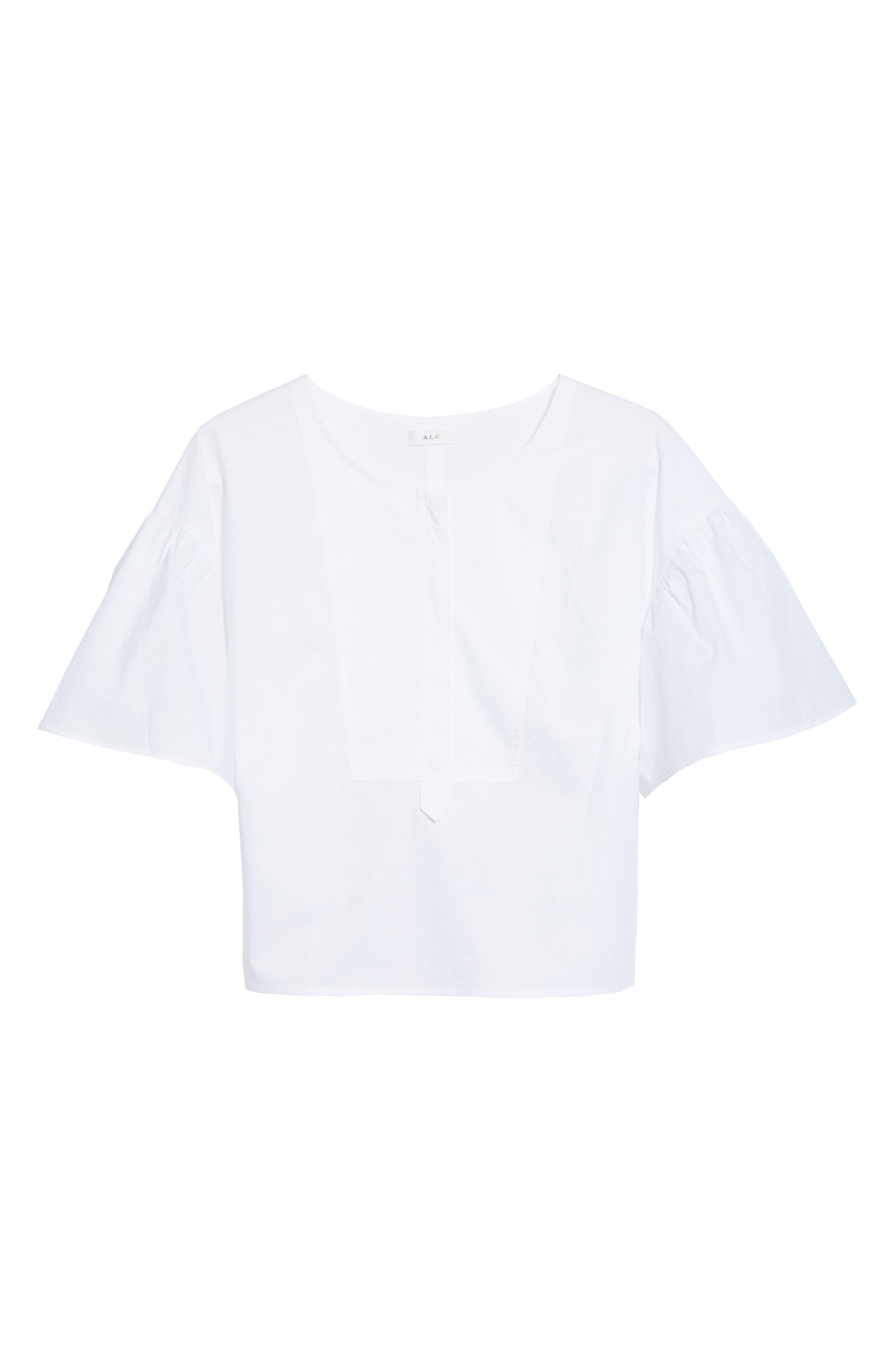 Kyrie Cotton Top,                             Alternate thumbnail 7, color,                             White