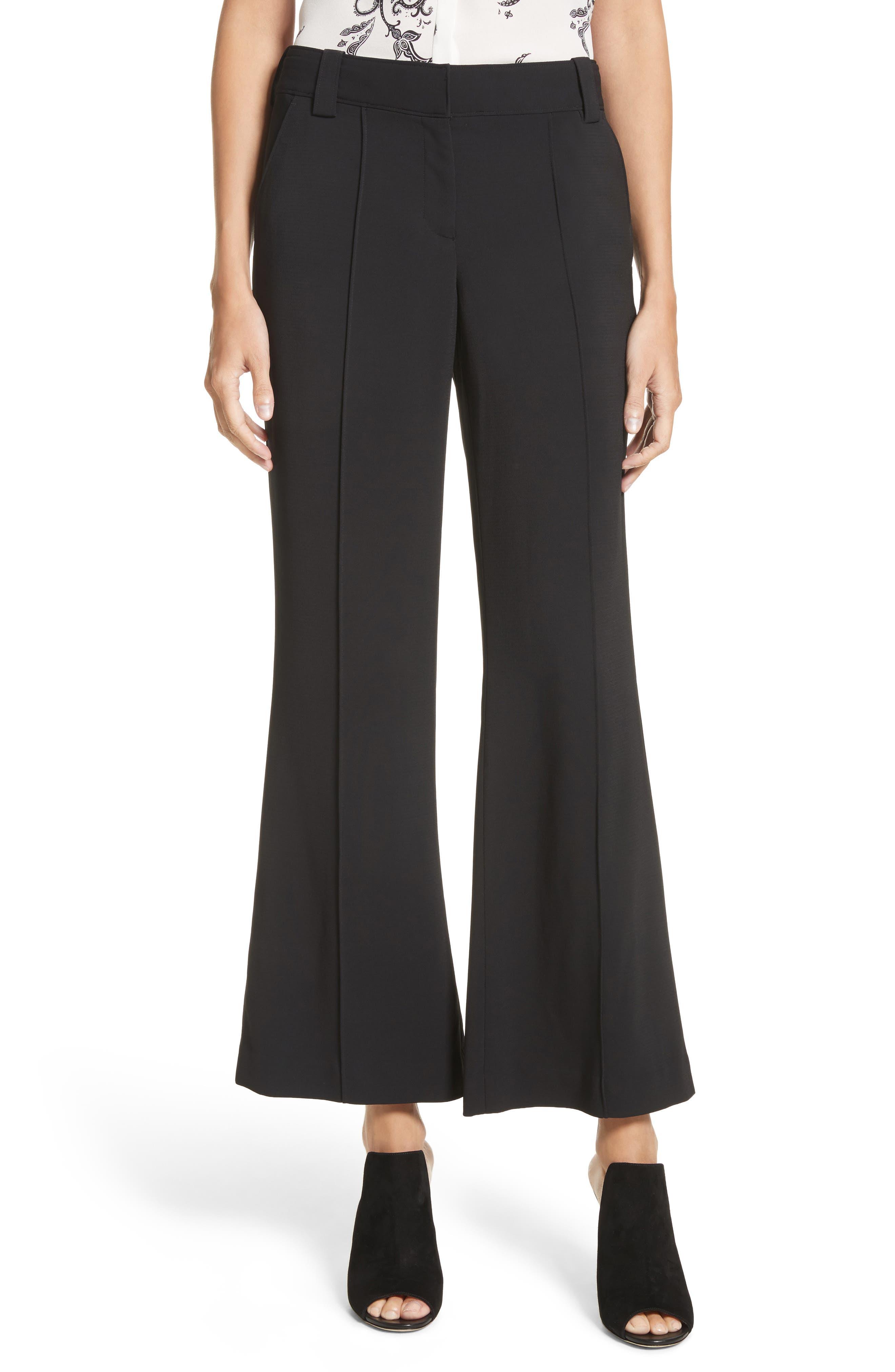 Felix Crop Flare Pants,                         Main,                         color, Black