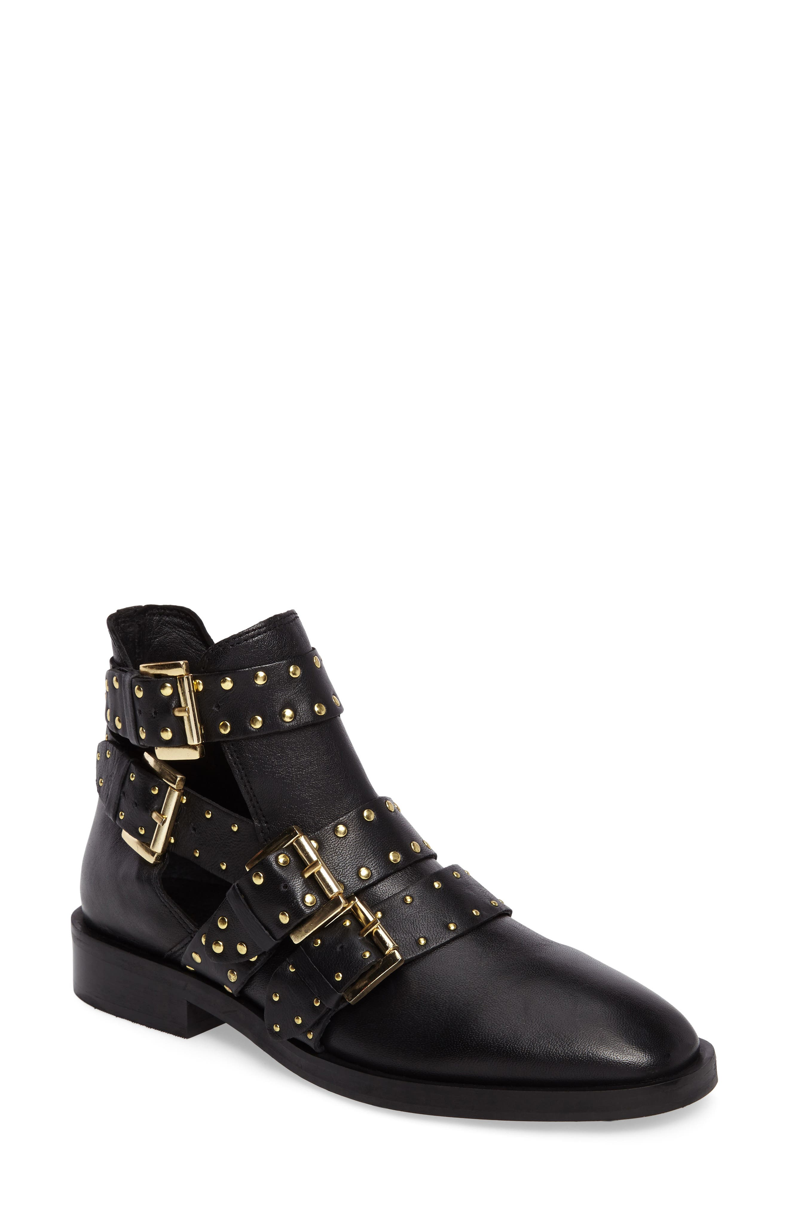 Alternate Image 1 Selected - Topshop Ark Studded Buckle Bootie (Women)