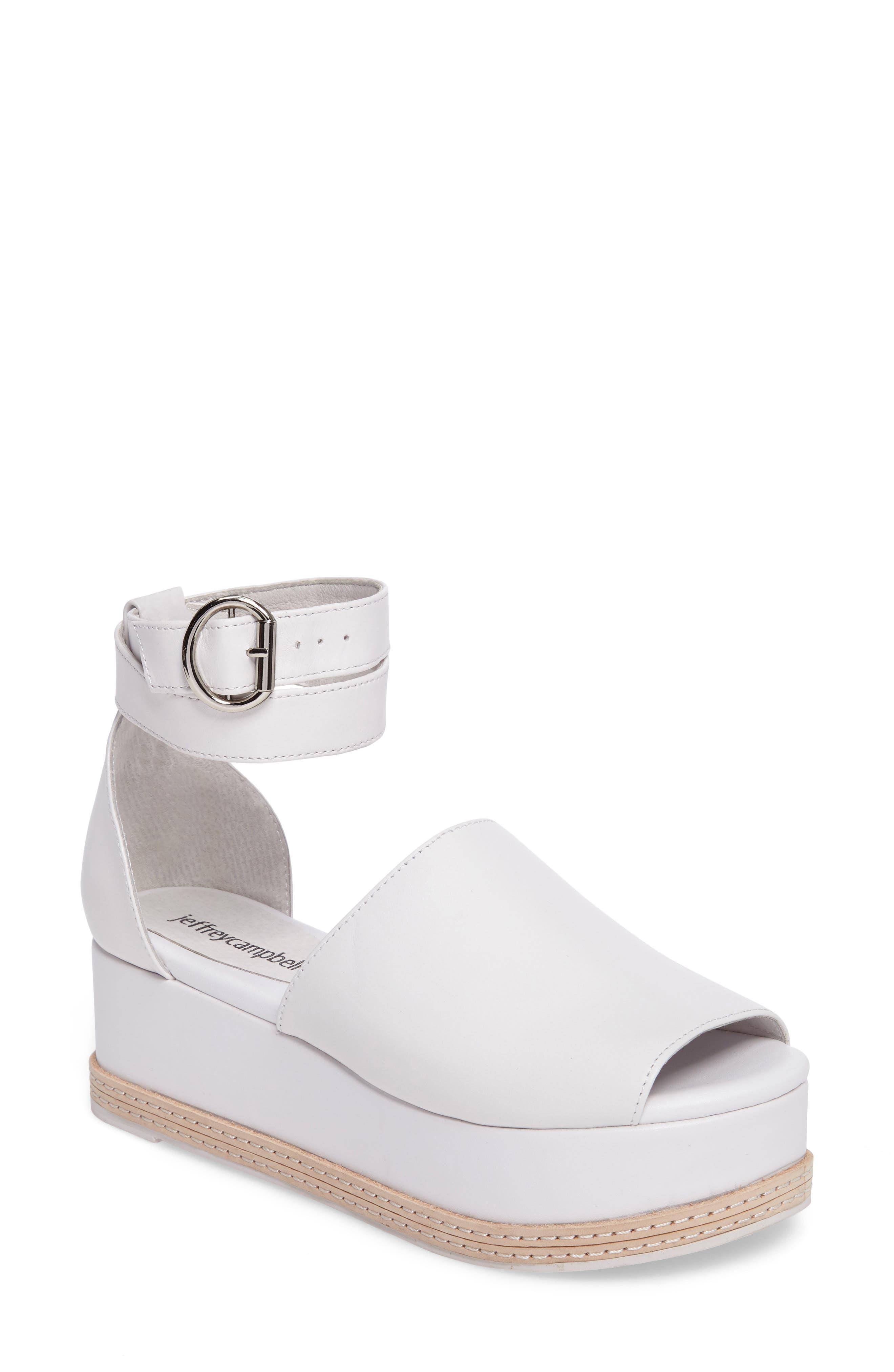 JEFFREY CAMPBELL Baywood Ankle Strap Platform Sandal