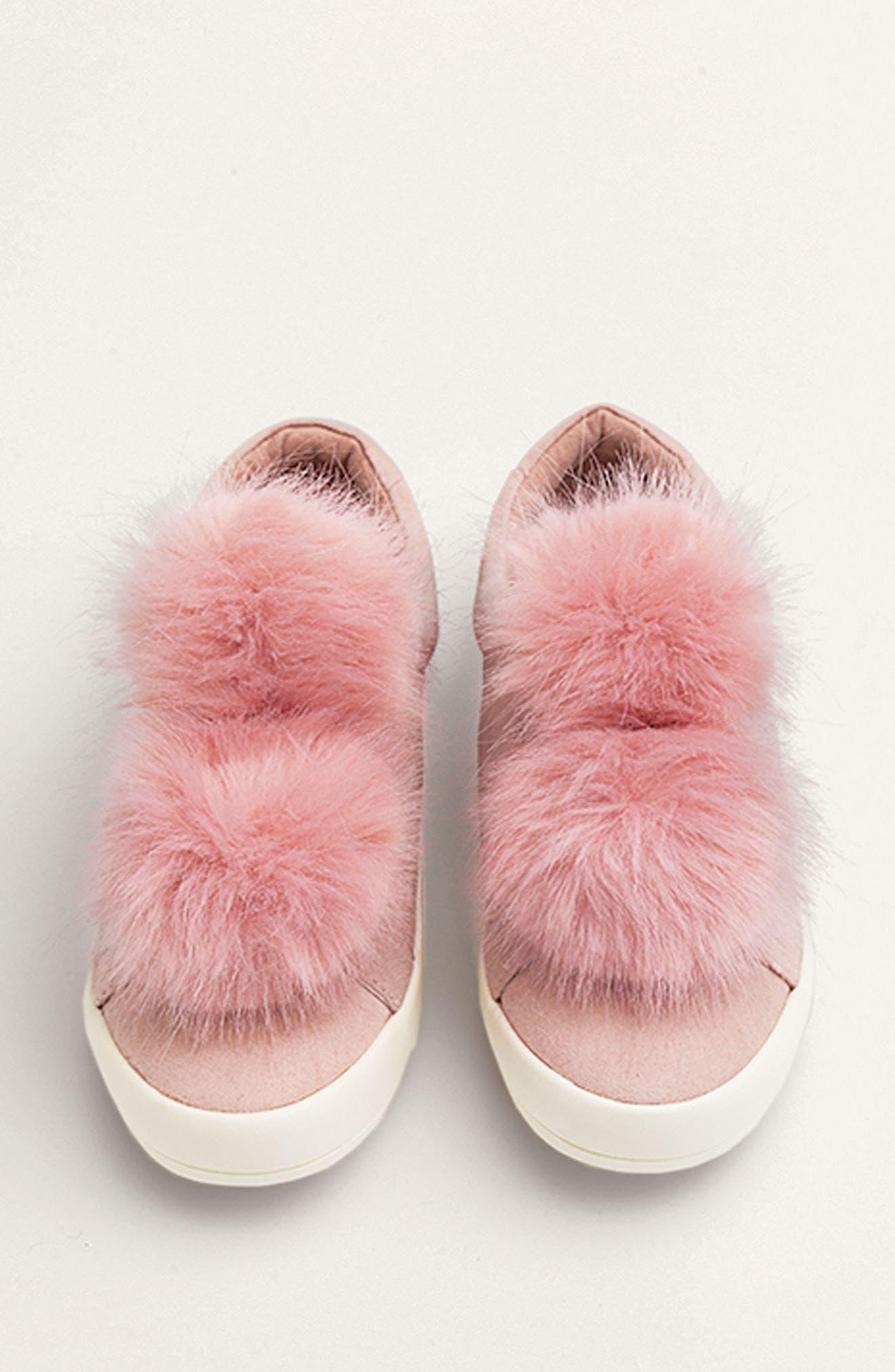 Alternate Image 8  - Sam Edelman Cynthia Leya Faux Fur Pompom Slip-On Sneaker (Toddler, Little Kid & Big Kid)