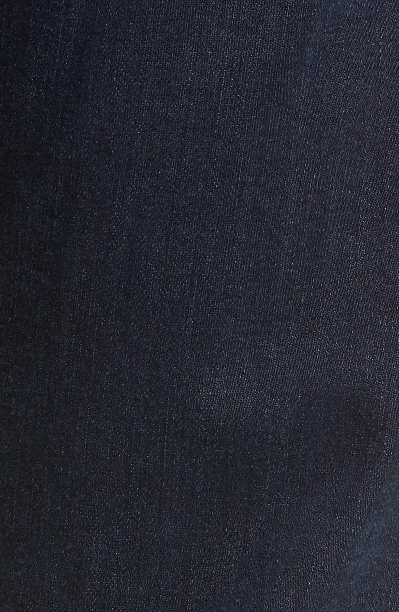 Alternate Image 5  - 7 For All Mankind® The Straight Slim Straight Leg Jeans (Dark Current)