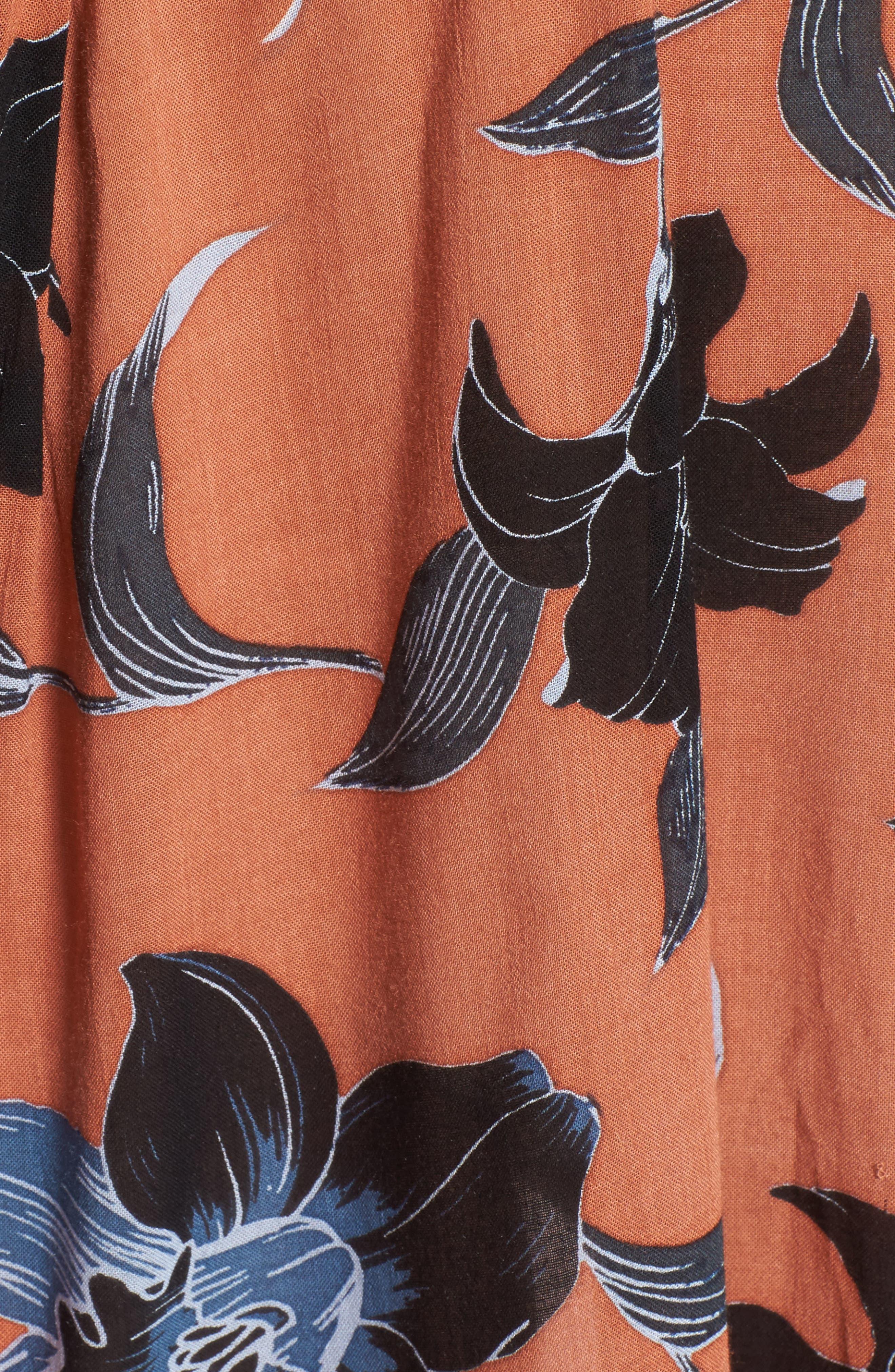 Nova Floral Print Dress,                             Alternate thumbnail 5, color,                             Maldives Print