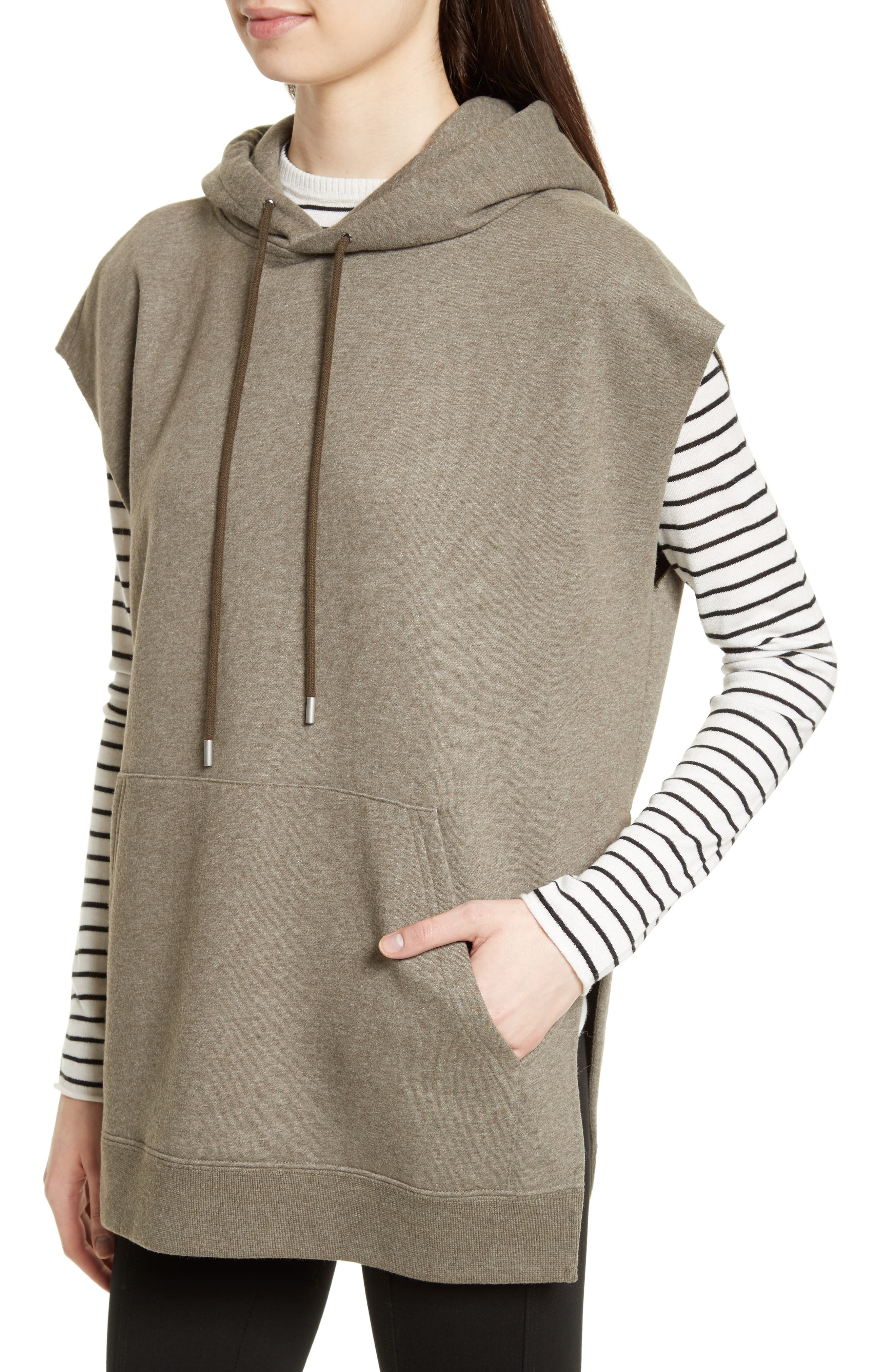 Sleeveless Hoodie,                             Alternate thumbnail 5, color,                             Olive