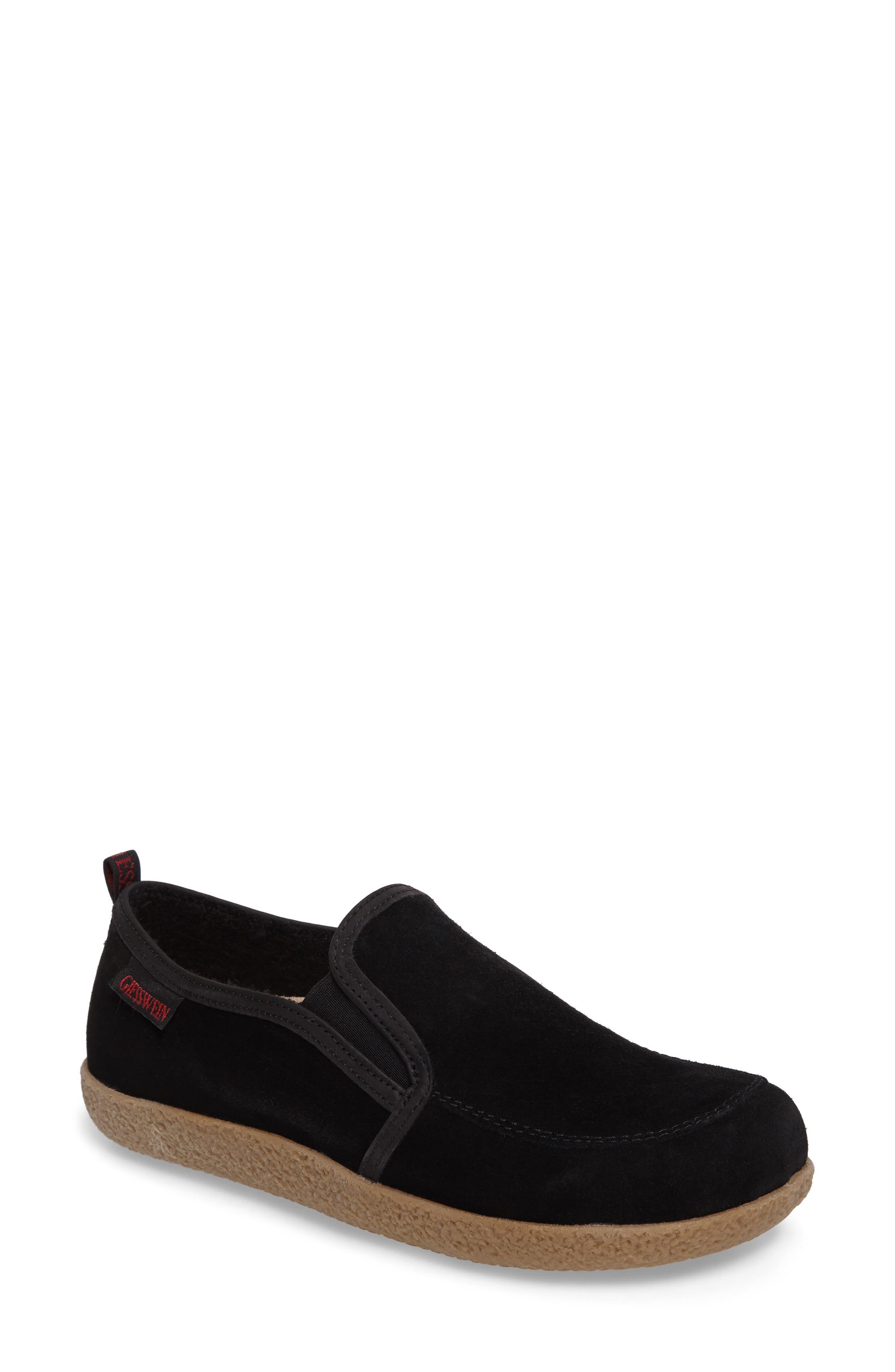 Alpen Loafer,                             Main thumbnail 1, color,                             Black Wool