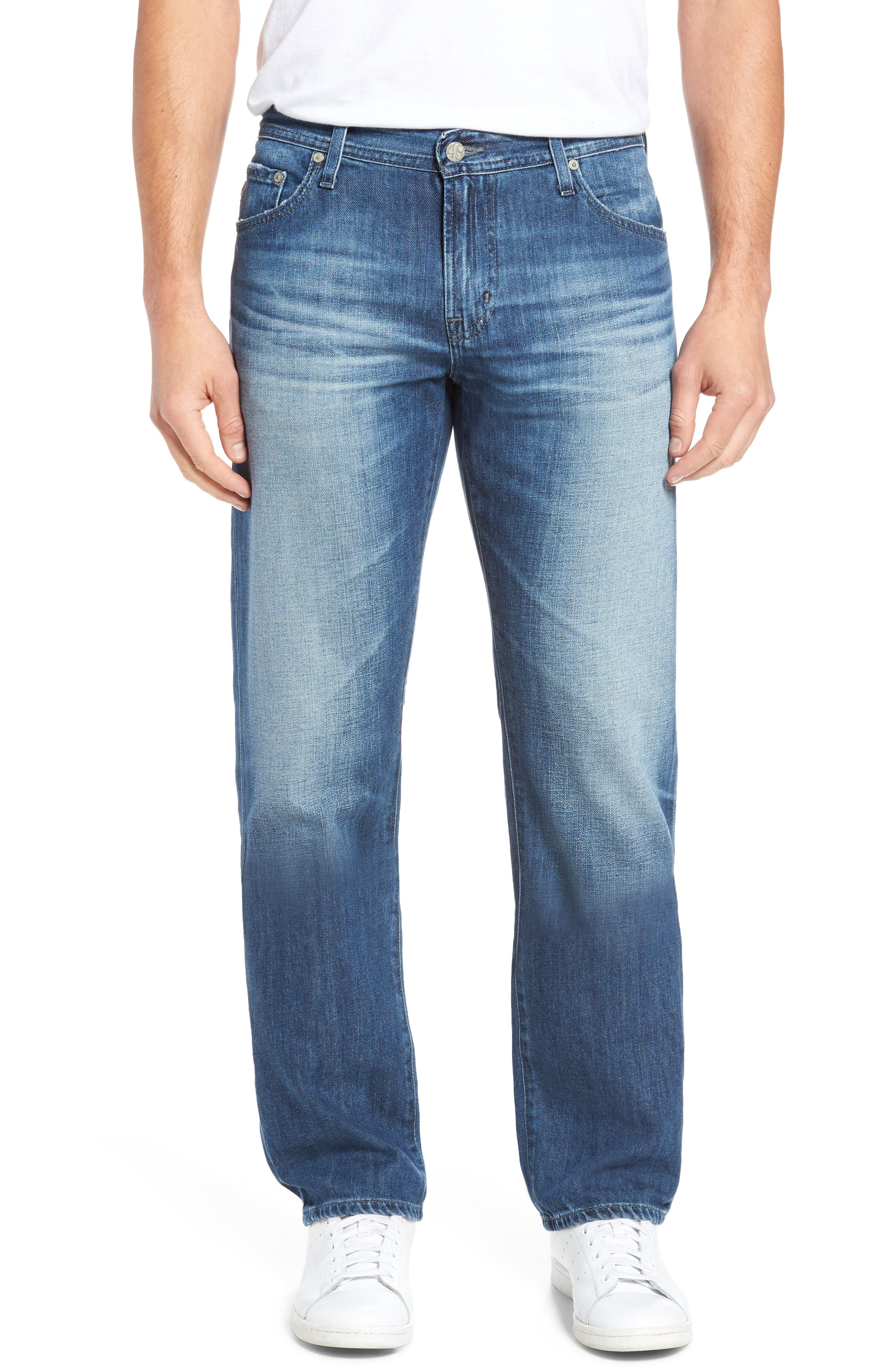 Alternate Image 1 Selected - AG Graduate Slim Straight Fit Jeans (15 Years Forgery)