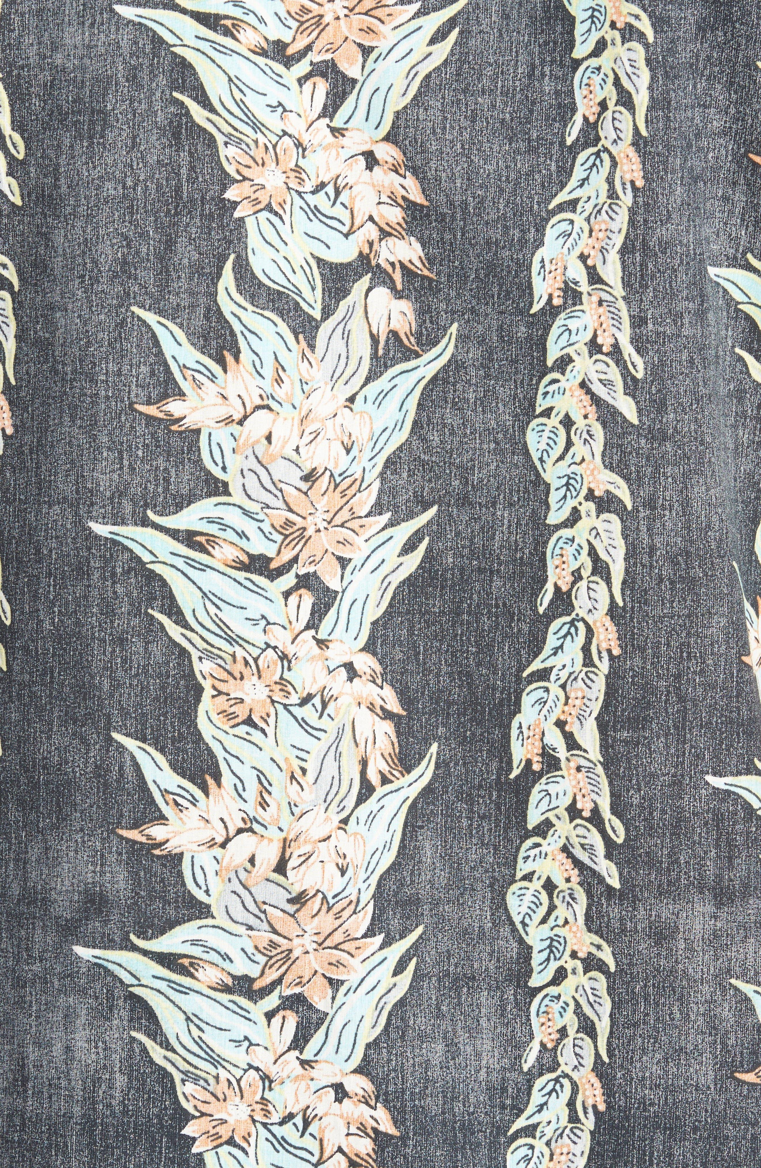 Sundays Floral Woven Shirt,                             Alternate thumbnail 5, color,                             Black