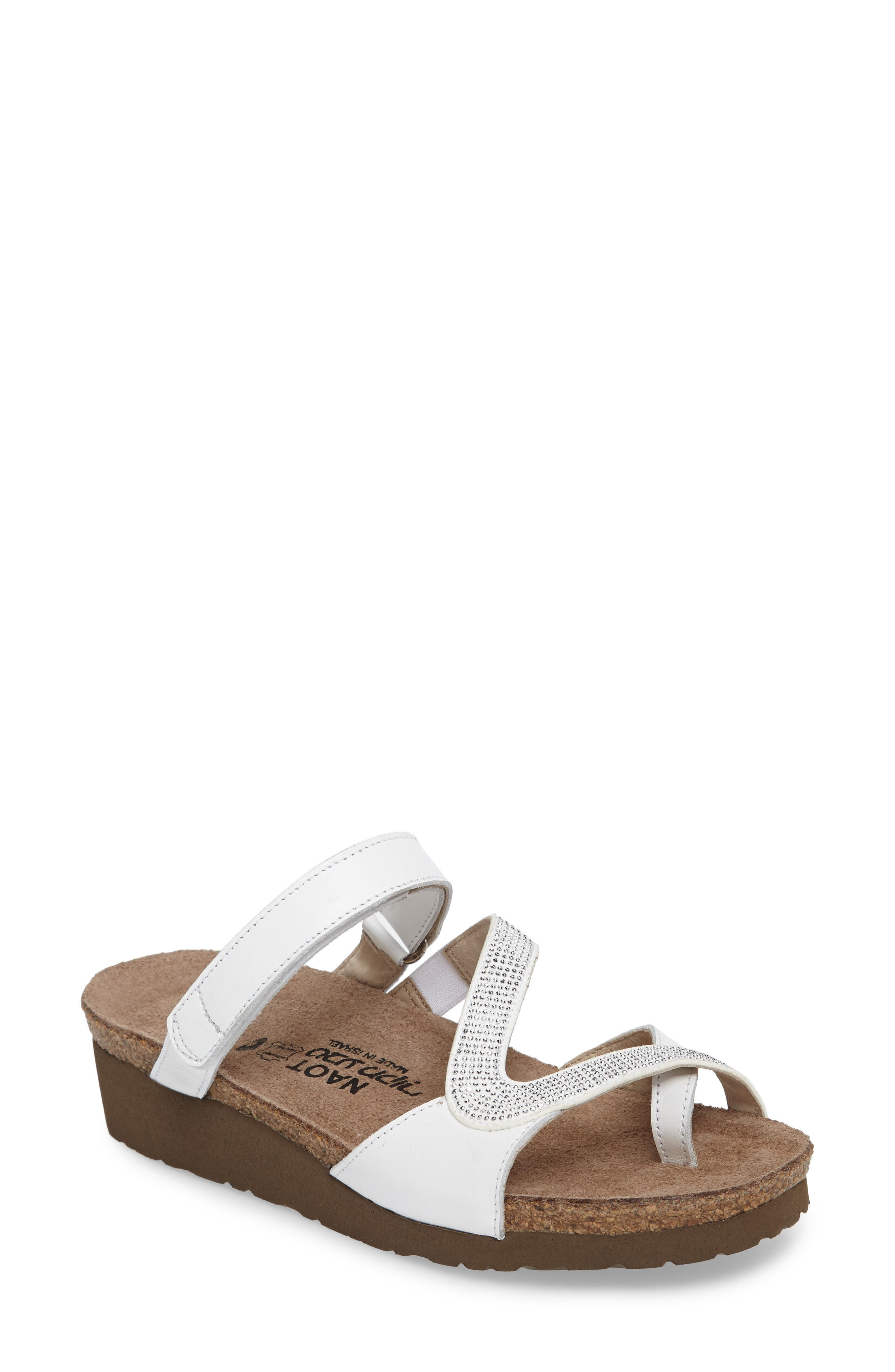 Giovanna Sandal,                             Main thumbnail 1, color,                             White Leather