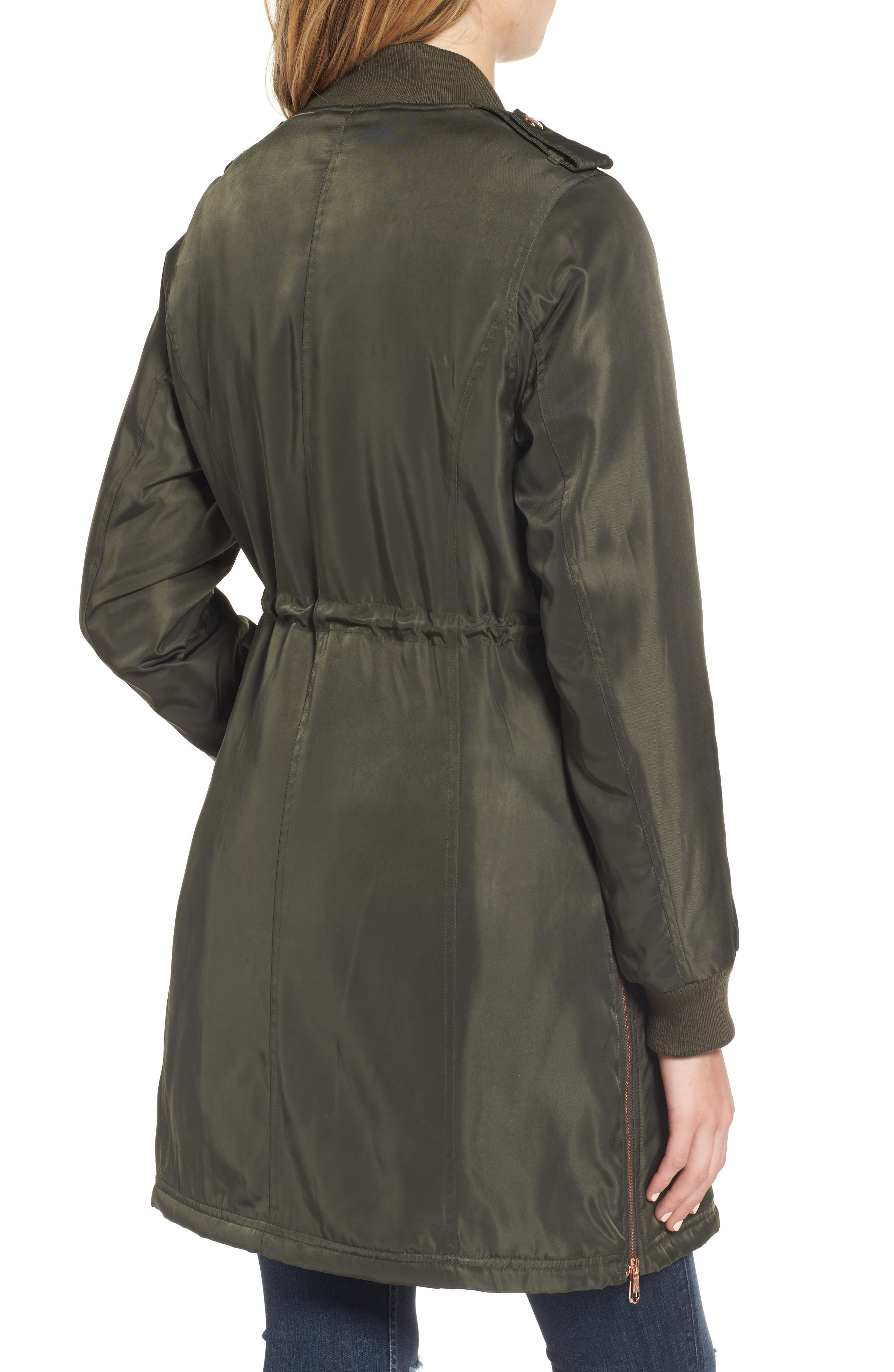 Drawstring Waist Anorak,                             Alternate thumbnail 2, color,                             Olive