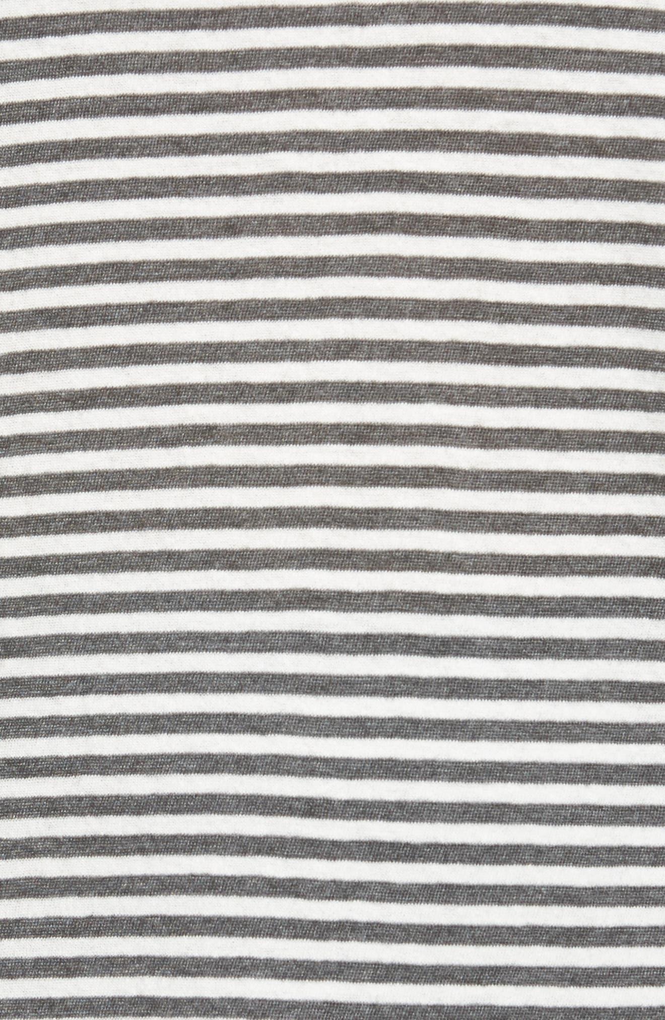 Stripe Long Layering Tank,                             Alternate thumbnail 5, color,                             Carbon Stripe