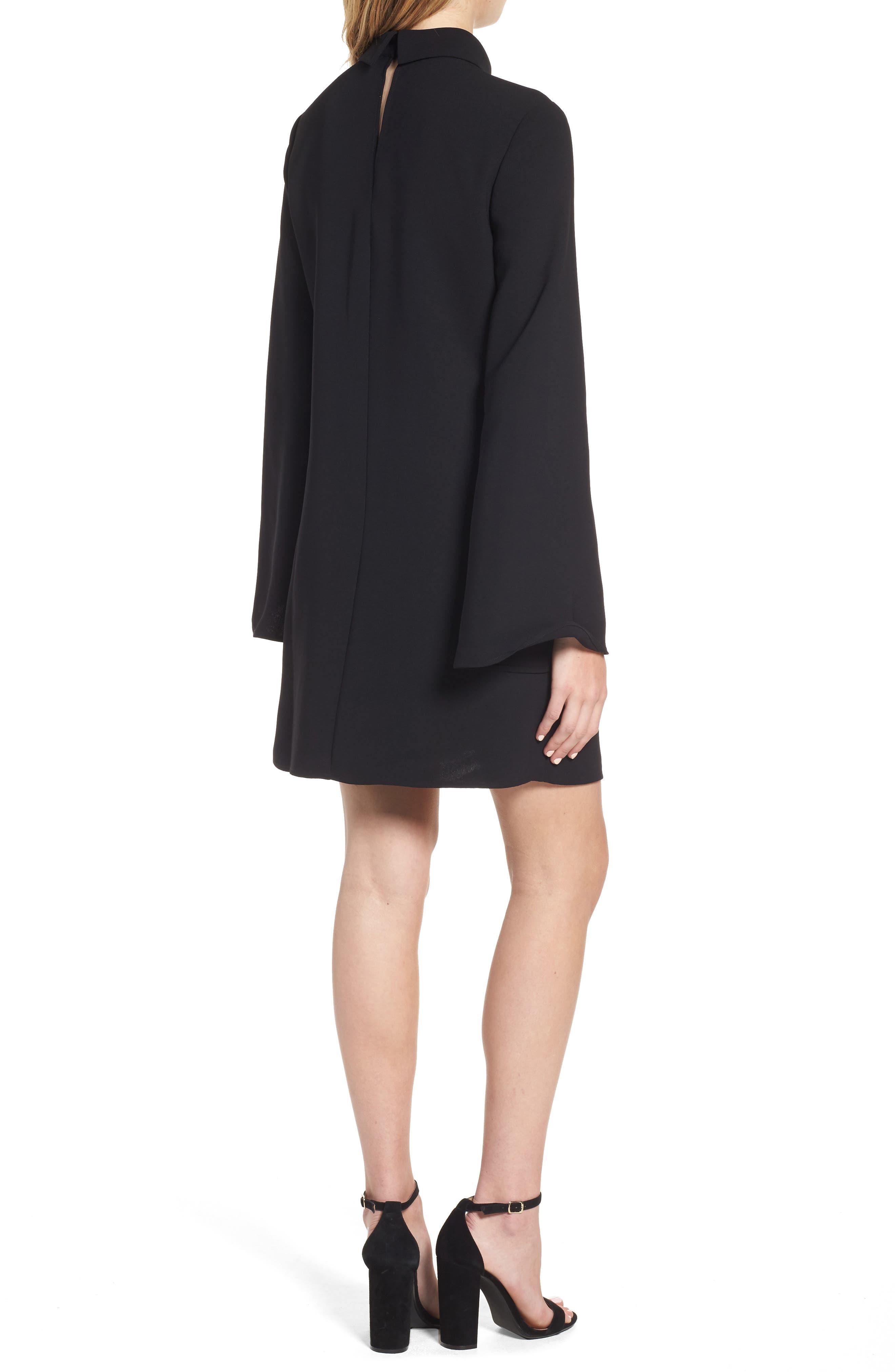 Alternate Image 2  - Trouvé Choker Bell Sleeve Dress