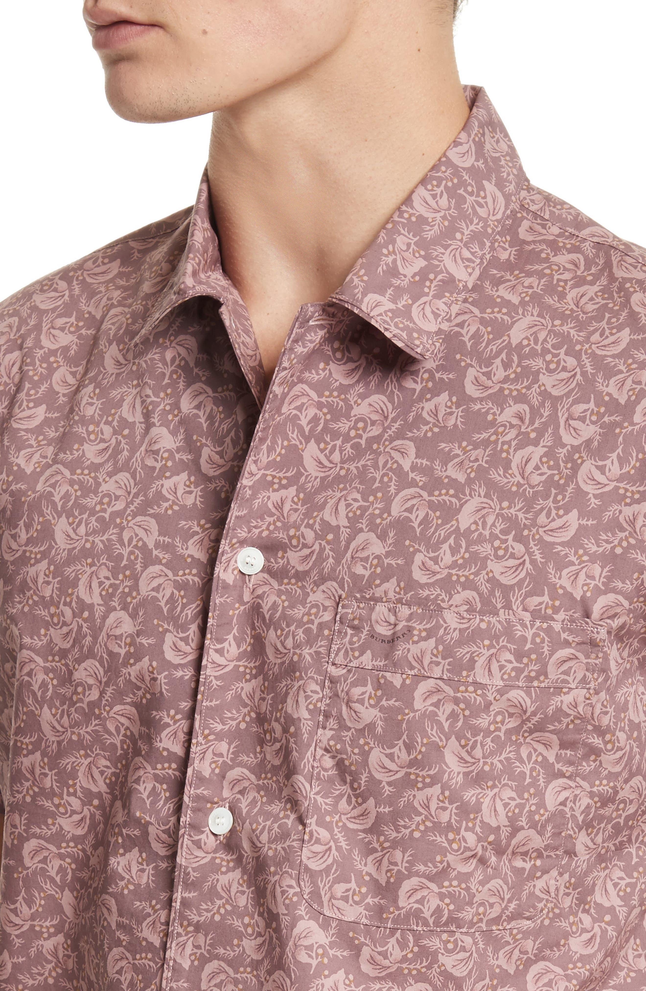 Alternate Image 4  - Burberry Borrows Slim Fit Print Sport Shirt