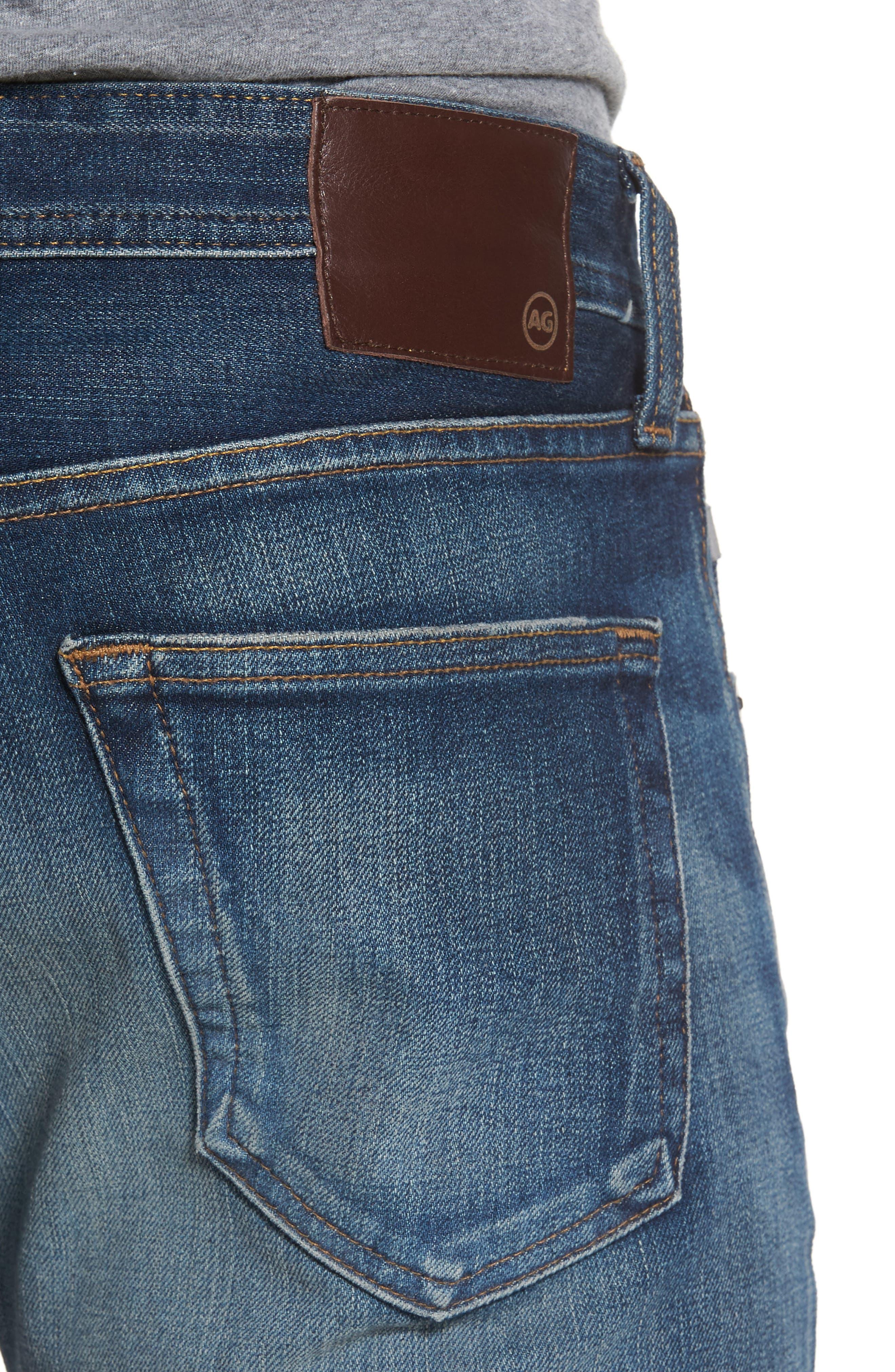 Alternate Image 4  - AG Tellis Slim Fit Jeans (10 Years Shortcut)