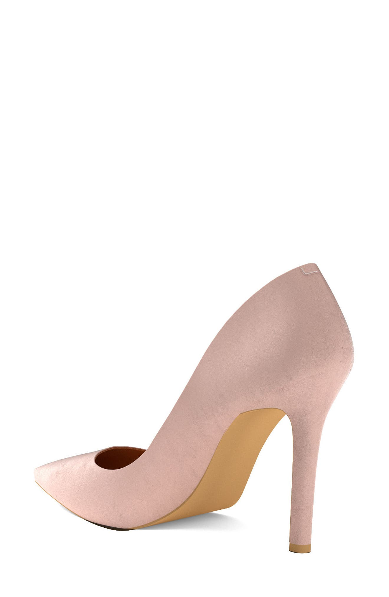 Pointy Toe Pump,                             Alternate thumbnail 2, color,                             Blush Nude Leather