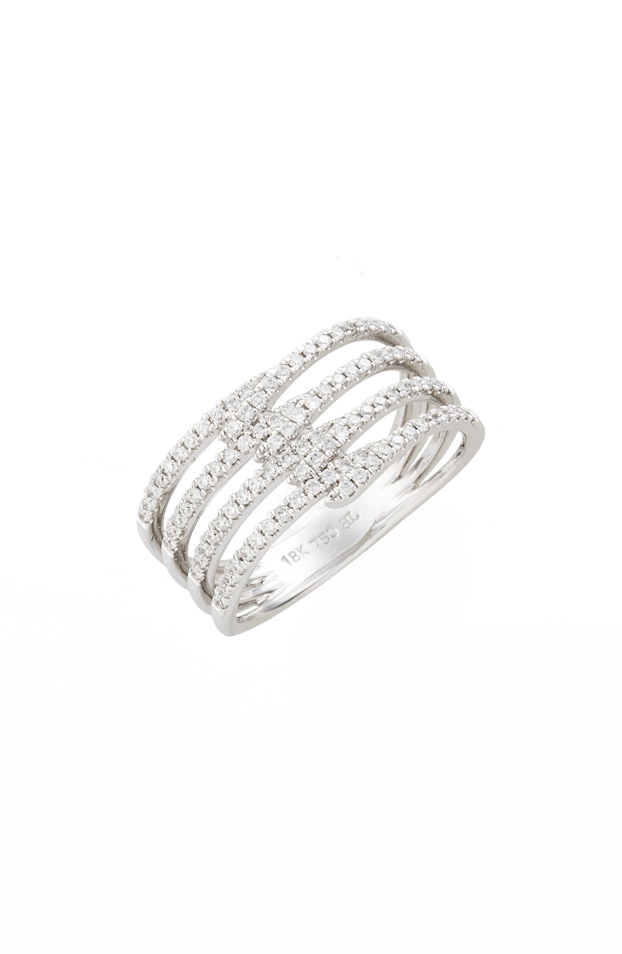 Main Image - Bony Levy Kiera Four-Row Diamond Ring (Nordstrom Exclusive)