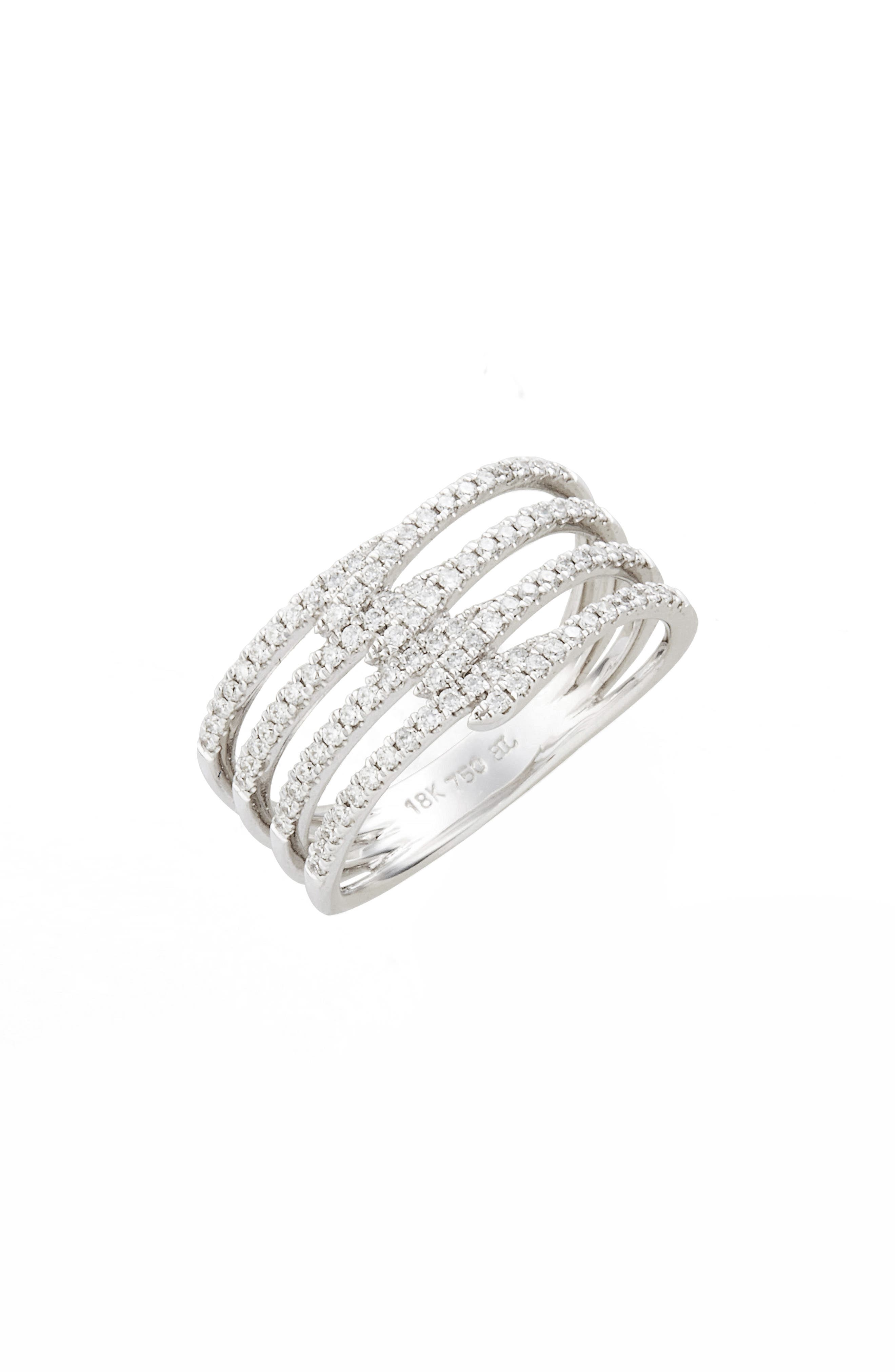 Bony Levy Kiera Four-Row Diamond Ring (Nordstrom Exclusive)