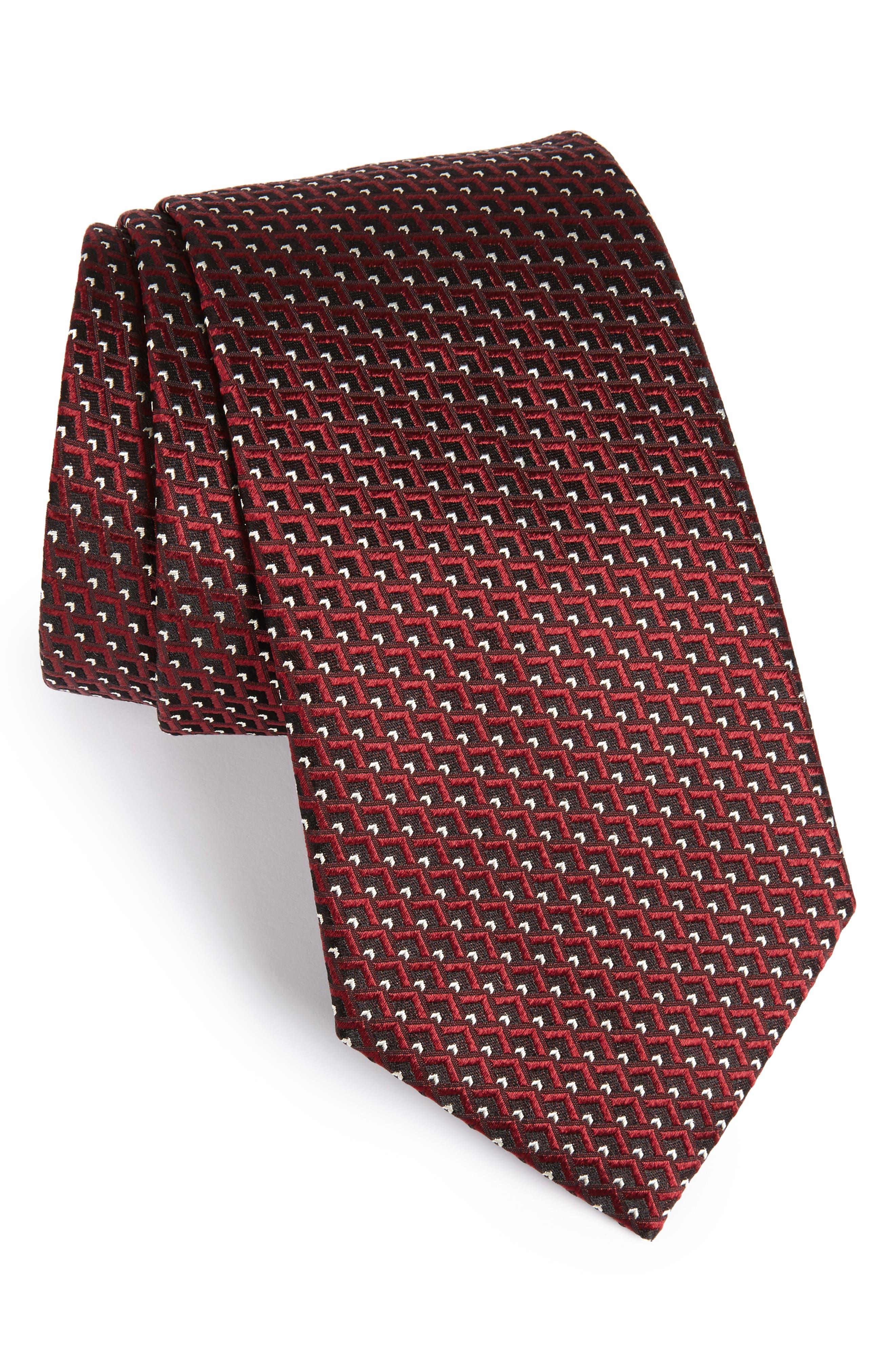 Ermenegildo Zegna Geomeric Silk Tie