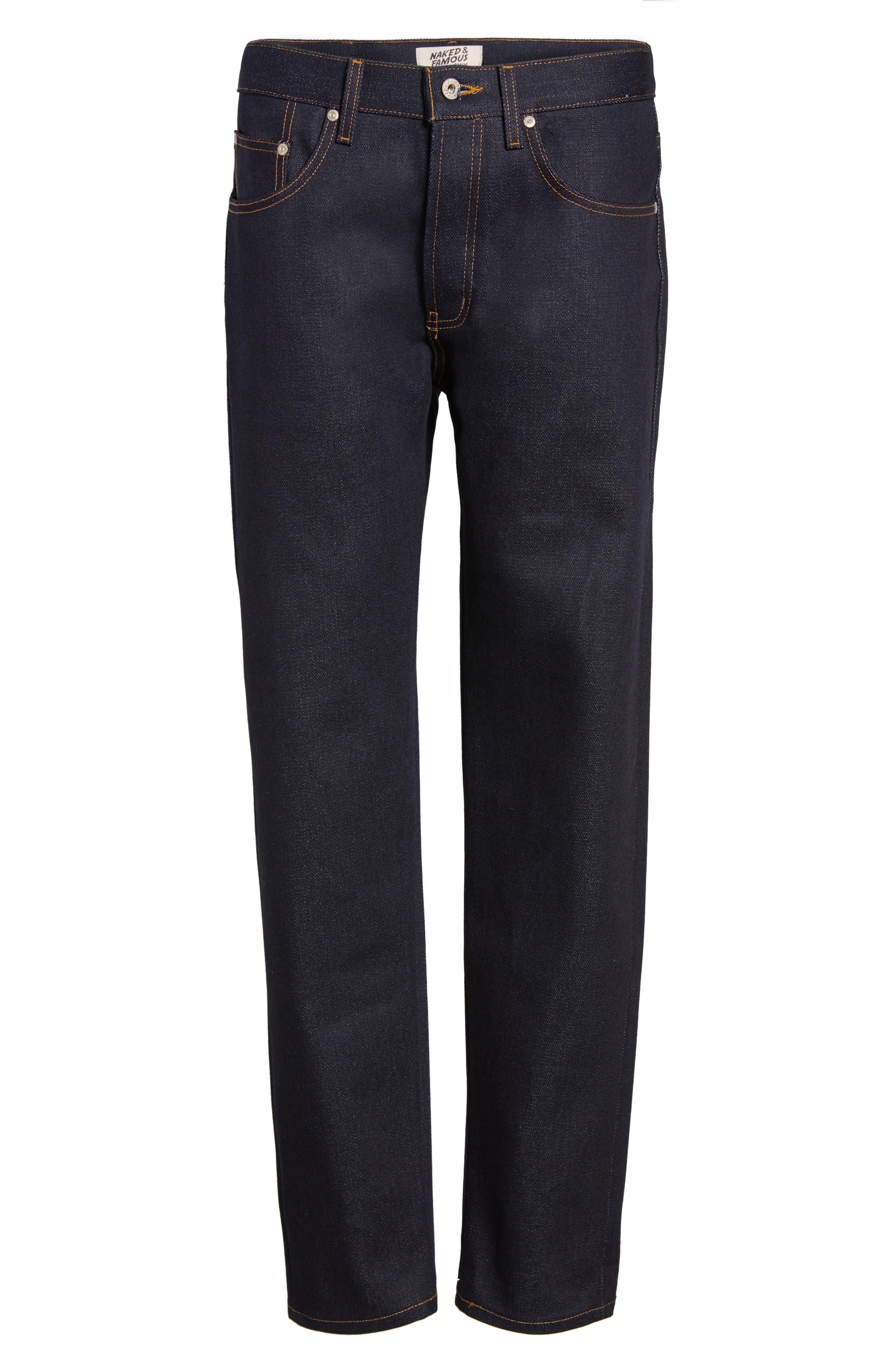 Alternate Image 6  - Naked & Famous Denim Easy Guy Slouchy Skinny Fit Jeans (Elephant 6)