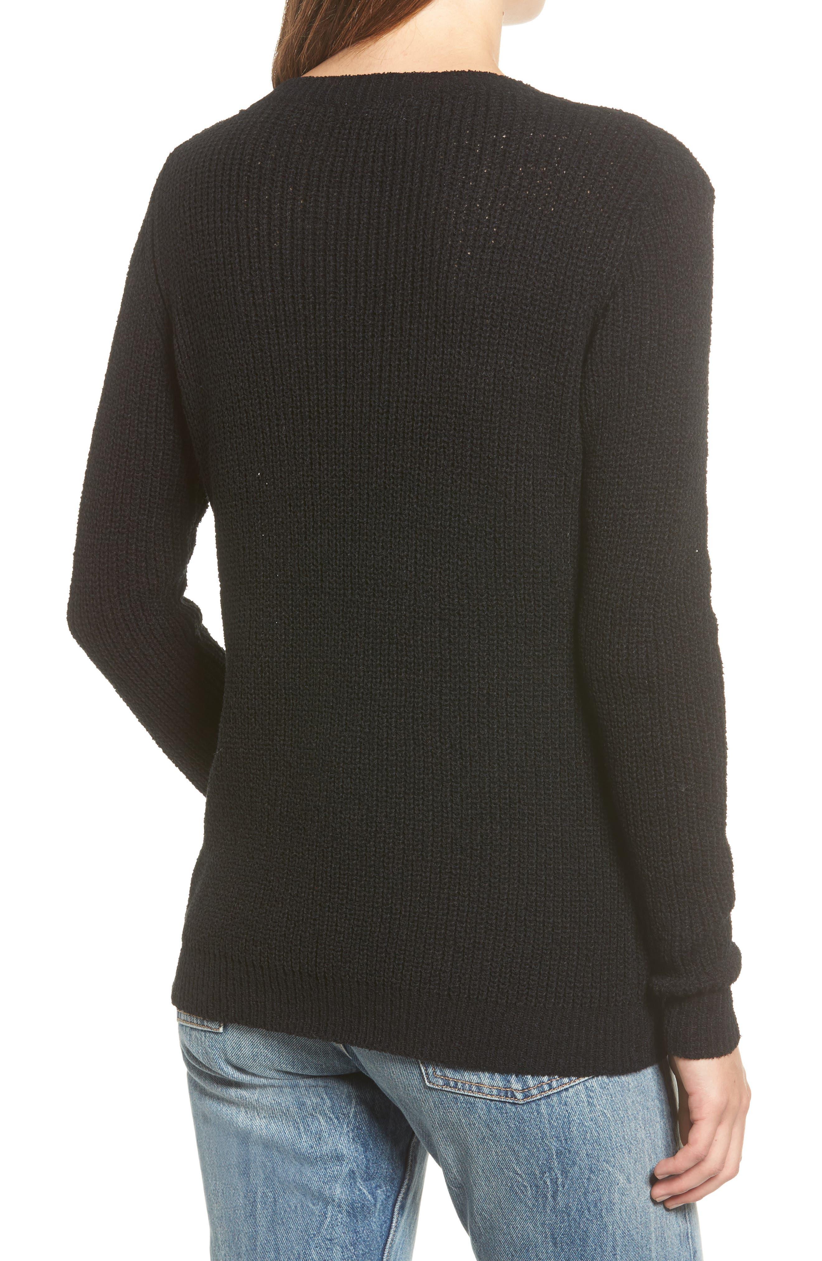 Dawn Sweater,                             Alternate thumbnail 2, color,                             Black
