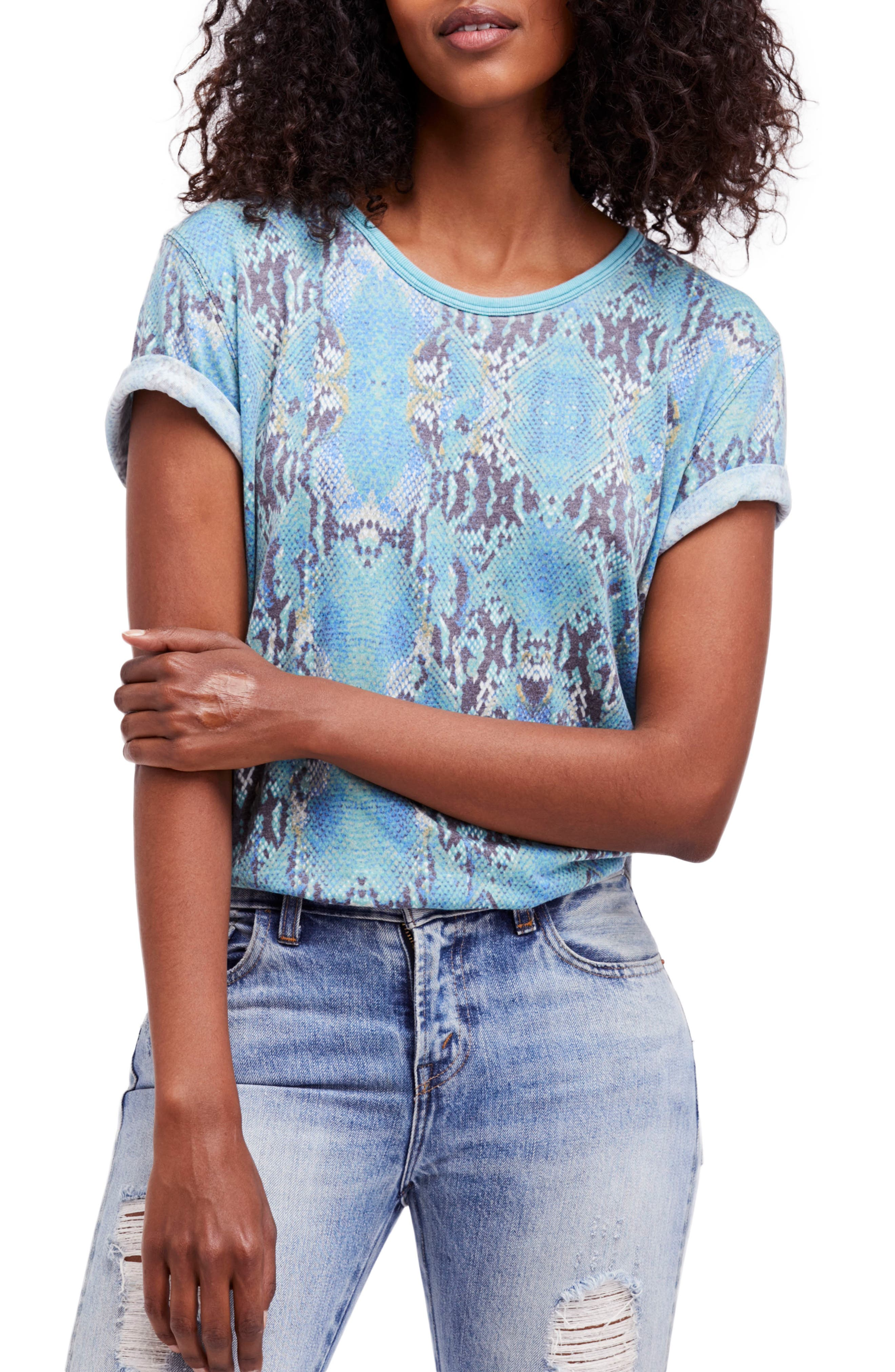 Alternate Image 1 Selected - Free People Print Me Perfect Tee
