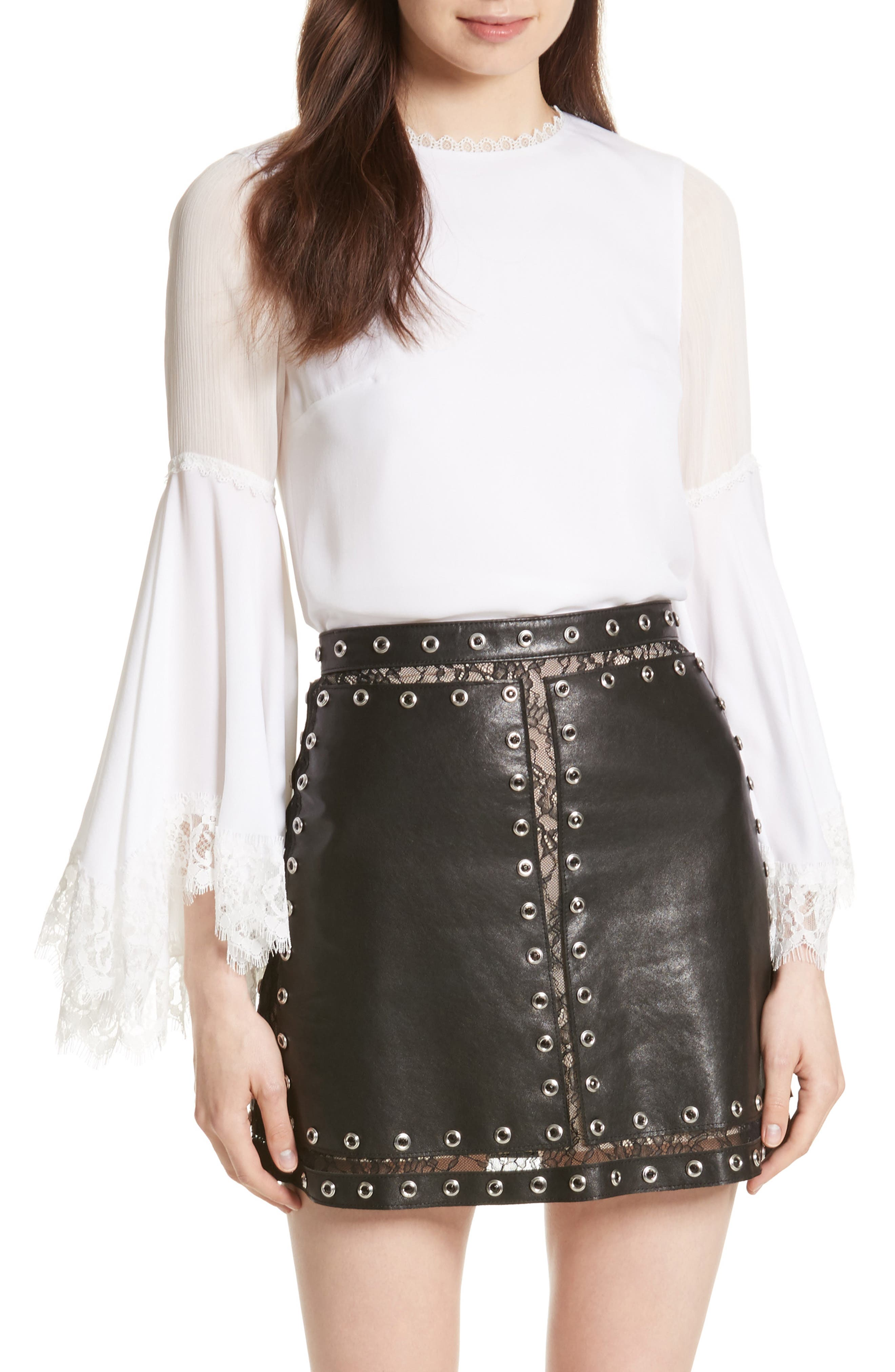 Alternate Image 1 Selected - Alice + Olivia Levine Bell Sleeve Blouse