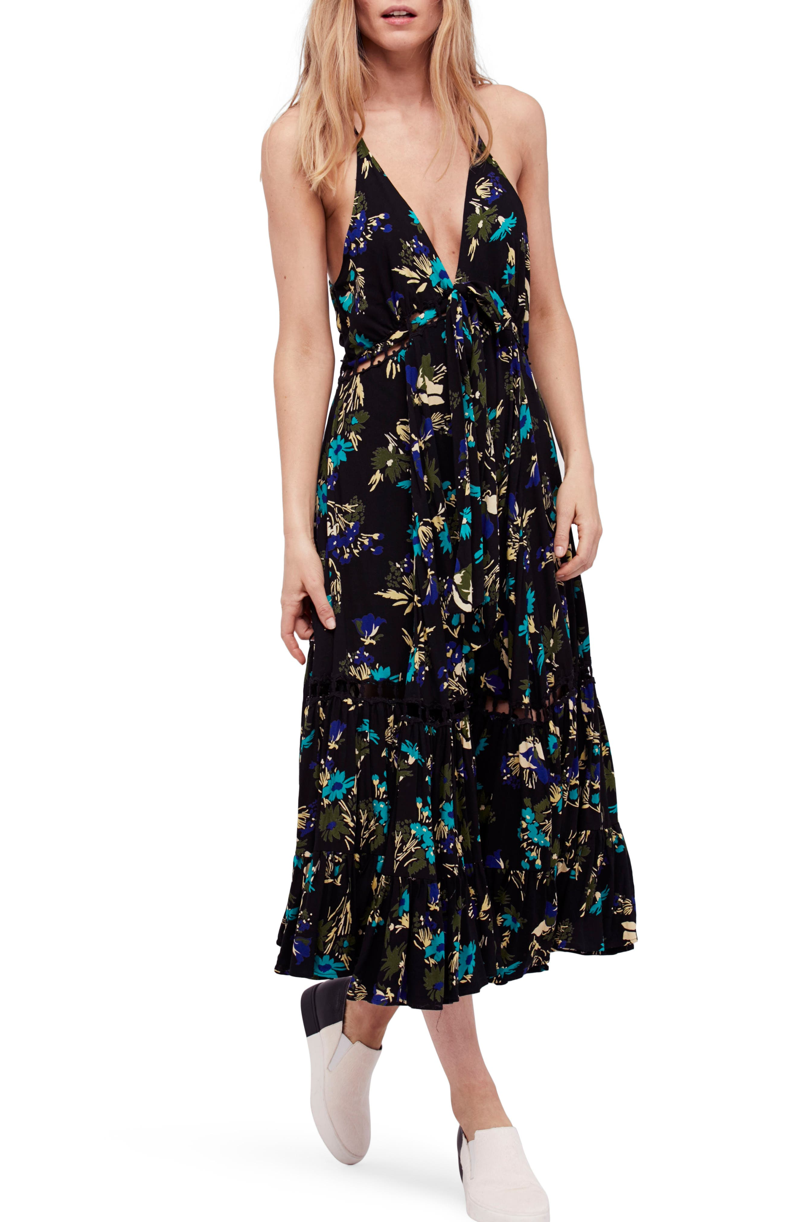 Pages of Gold Maxi Dress,                             Main thumbnail 1, color,                             Black Combo